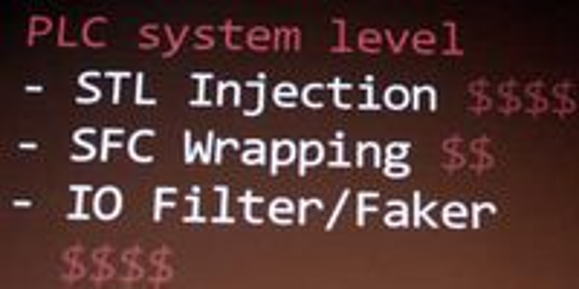 """Ralph Langner er langt mer bekymnret for delen av Stuxnets """"payload"""" som han mener vil kunne utnyttes til nye mål. Dollartegnene i lysbildene er hans vurdering av hvor verdifull eller kostbar de ulike modulene er."""