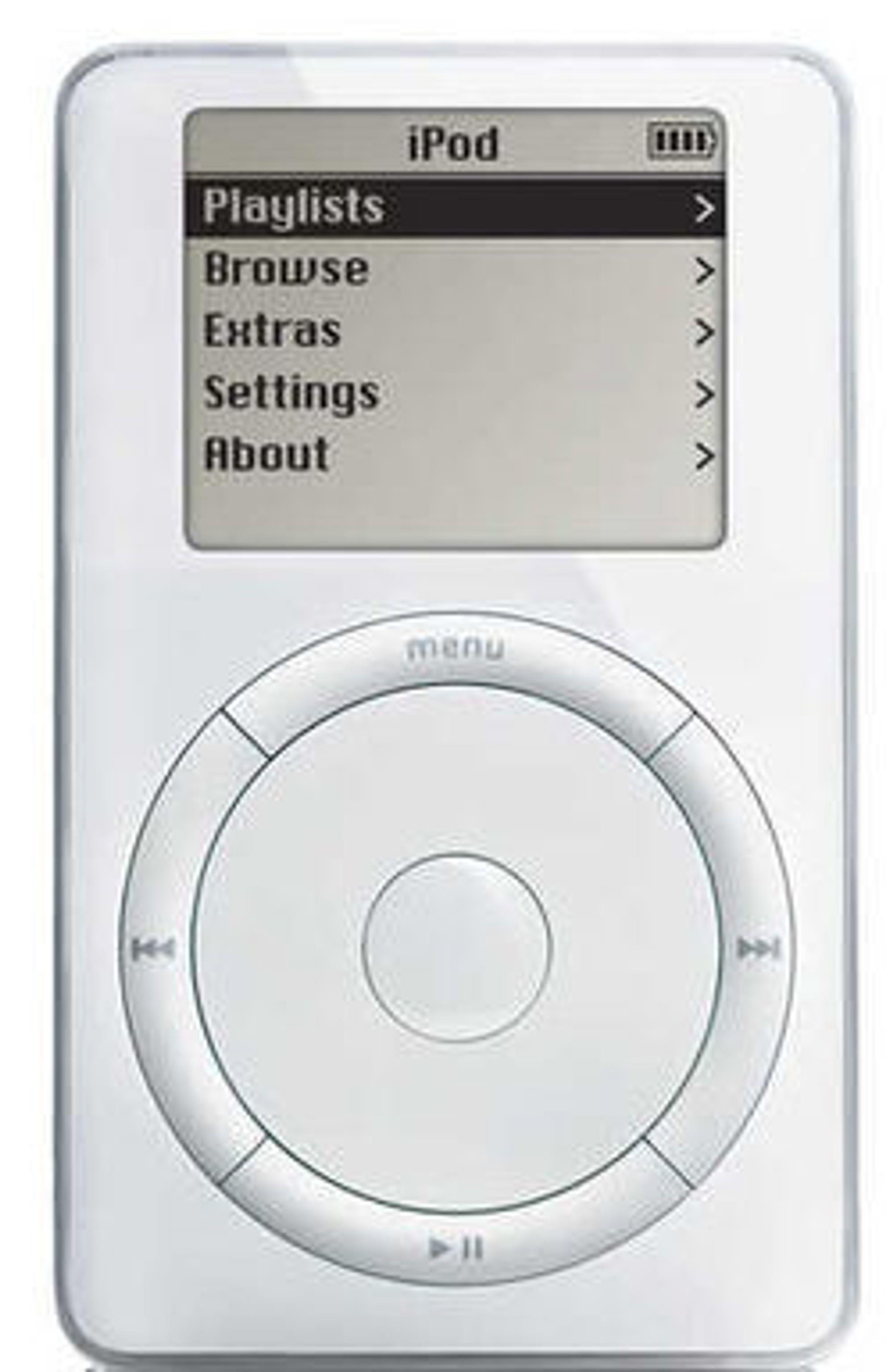 Den første utgaven av Apples iPod.