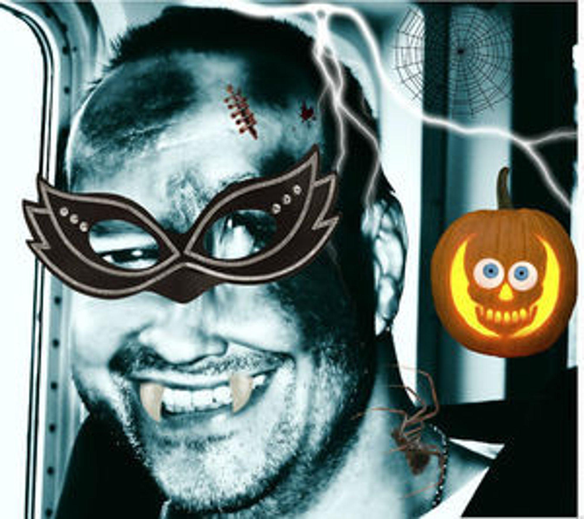Litt kjapp redigering i Google+ Creative Kit har gjort journalisten klar for Halloween.