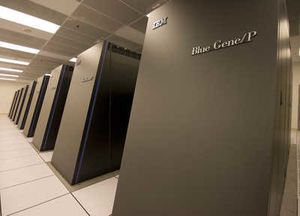Den IBM Blue Gene/P-baserte superdatamaskinen Dawn ved Lawrence Livermore National Laboratory.