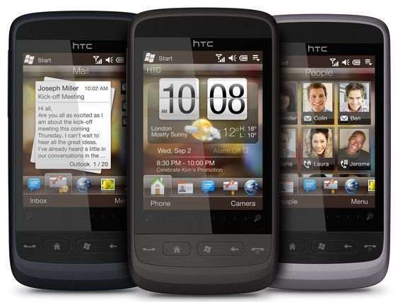HTC Touch2 med Windows Mobile 6.5 og Touch FLO.