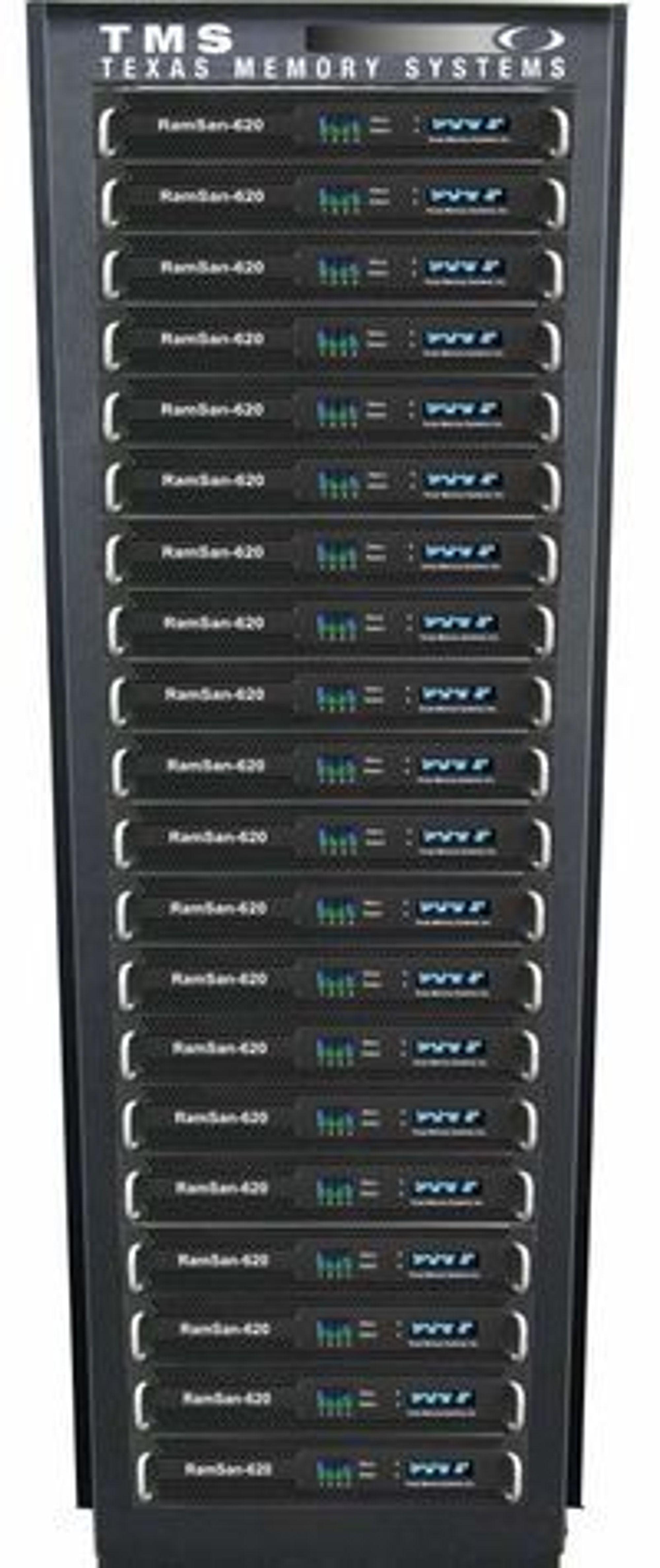 RamSan-620 er verdens raskeste og største SSD-system, ifølge Texas Memory Systems.
