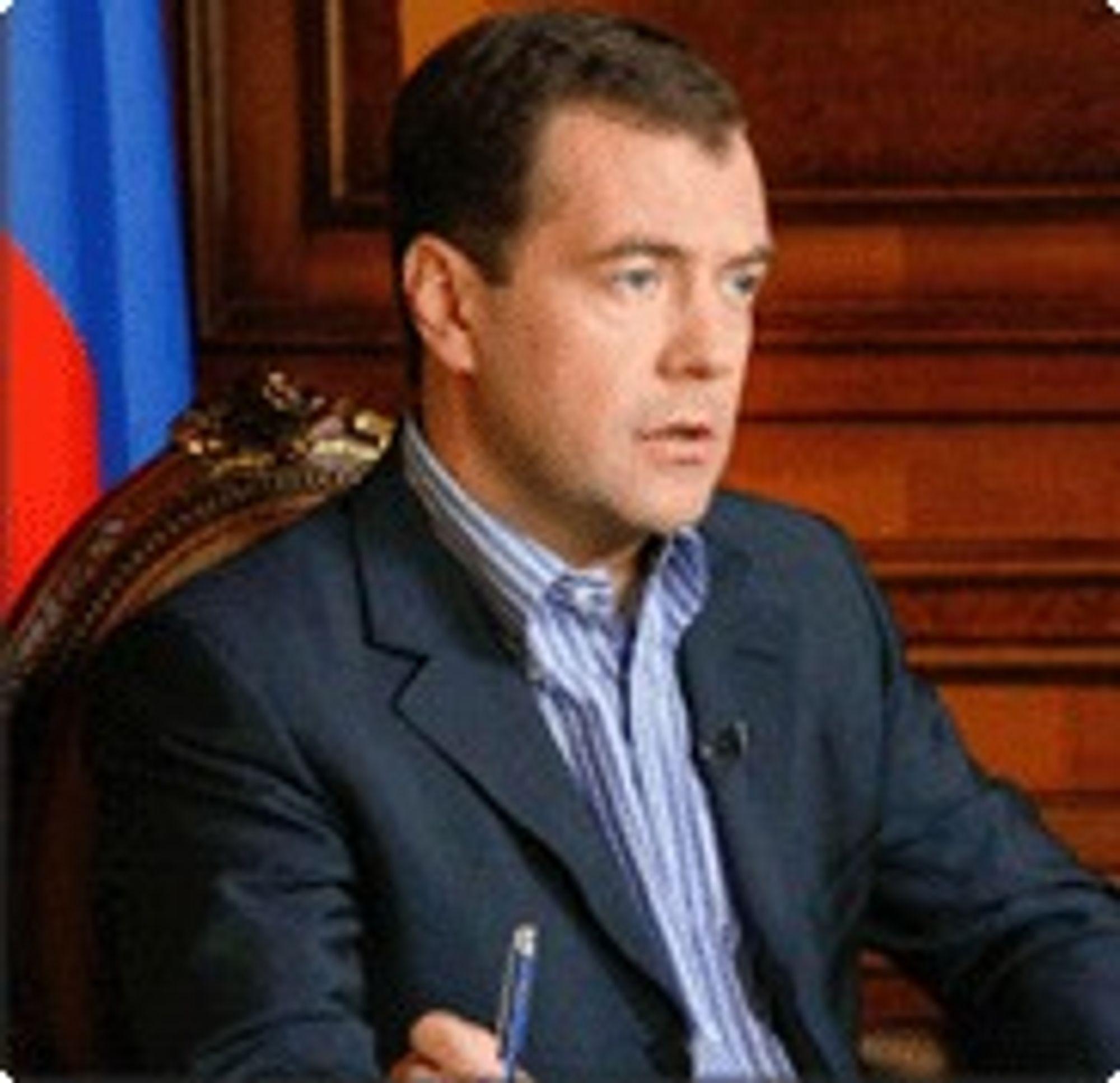 President Dmitrij Medvedev mener russerne må overvinne sin kroniske motstand mot alt nytt.