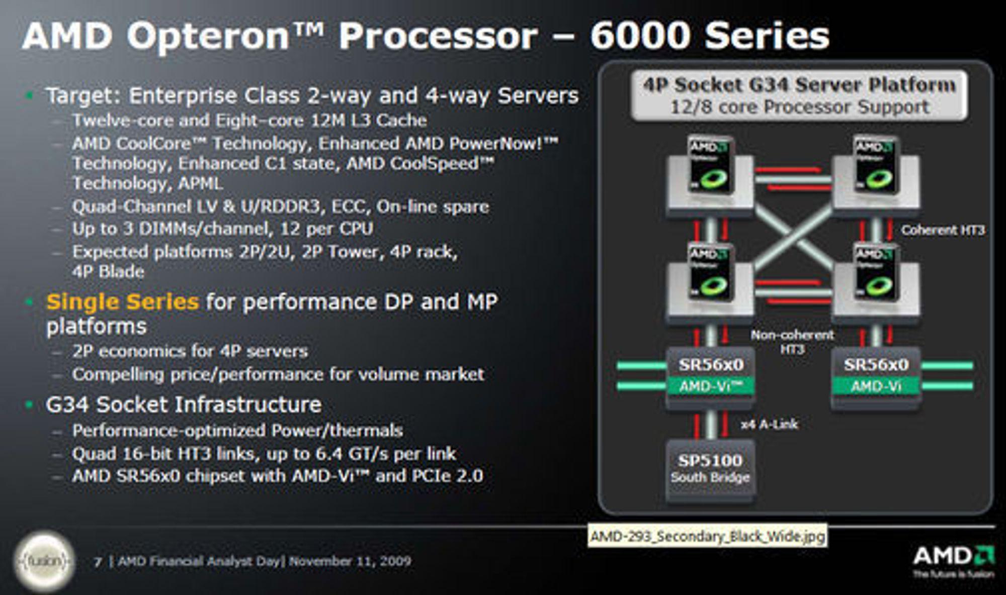 Detaljer om AMDs kommende Opteron 6000-serie