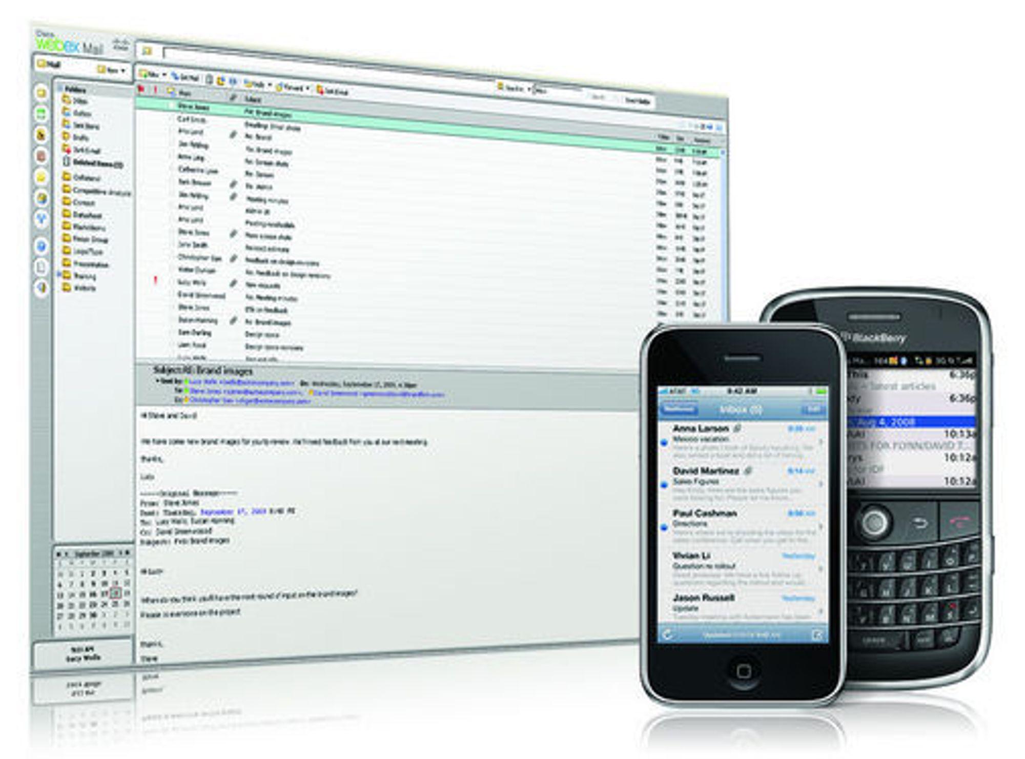 Webex Mail er en ny webbasert e-postløsning for bedrifter. Den gir brukerne tilgang til e-post fra pc-en eller fra en smart mobiltelefon.