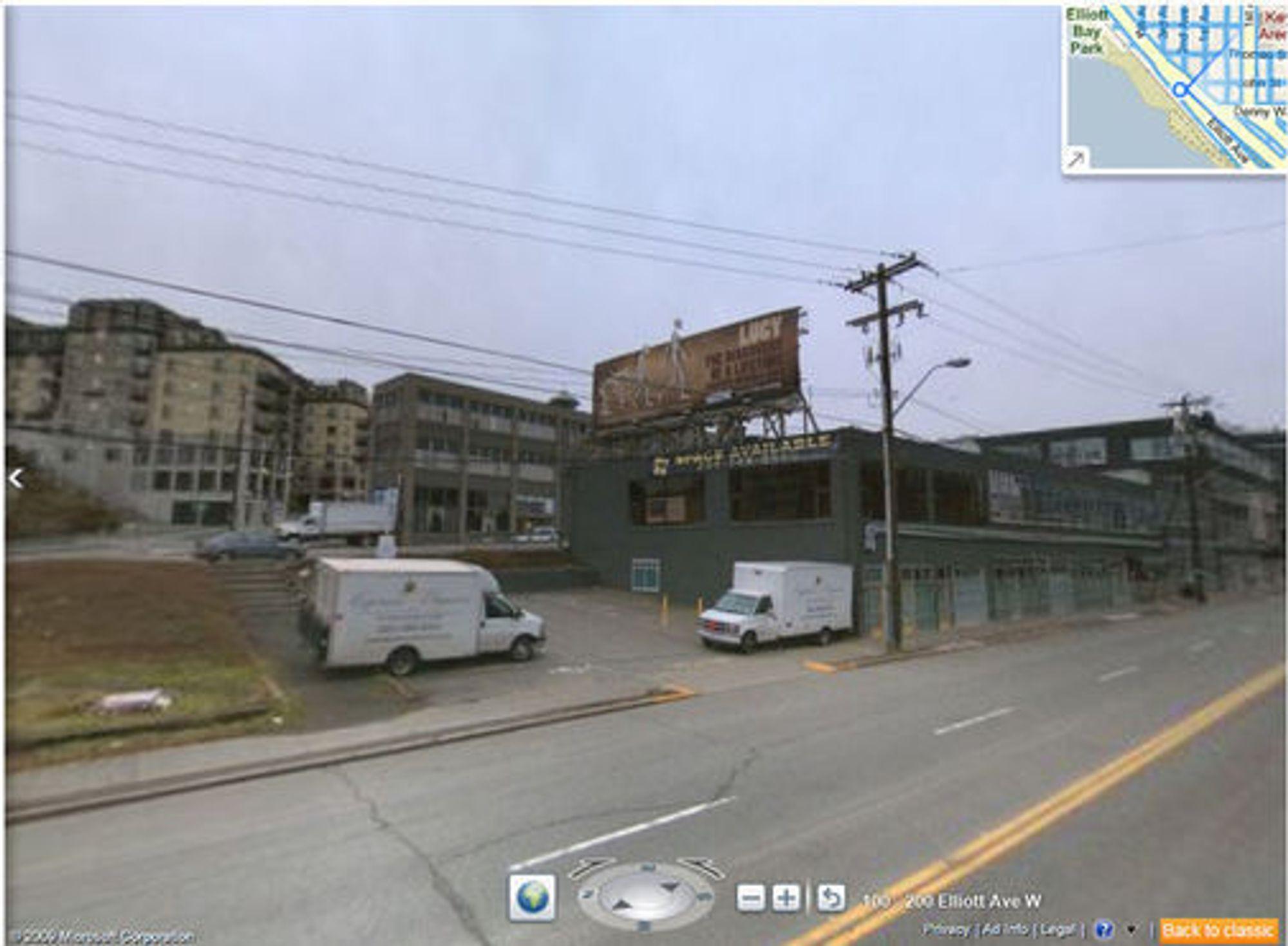 Bing Maps gatebilde fra Seattle uten Streetside Photos