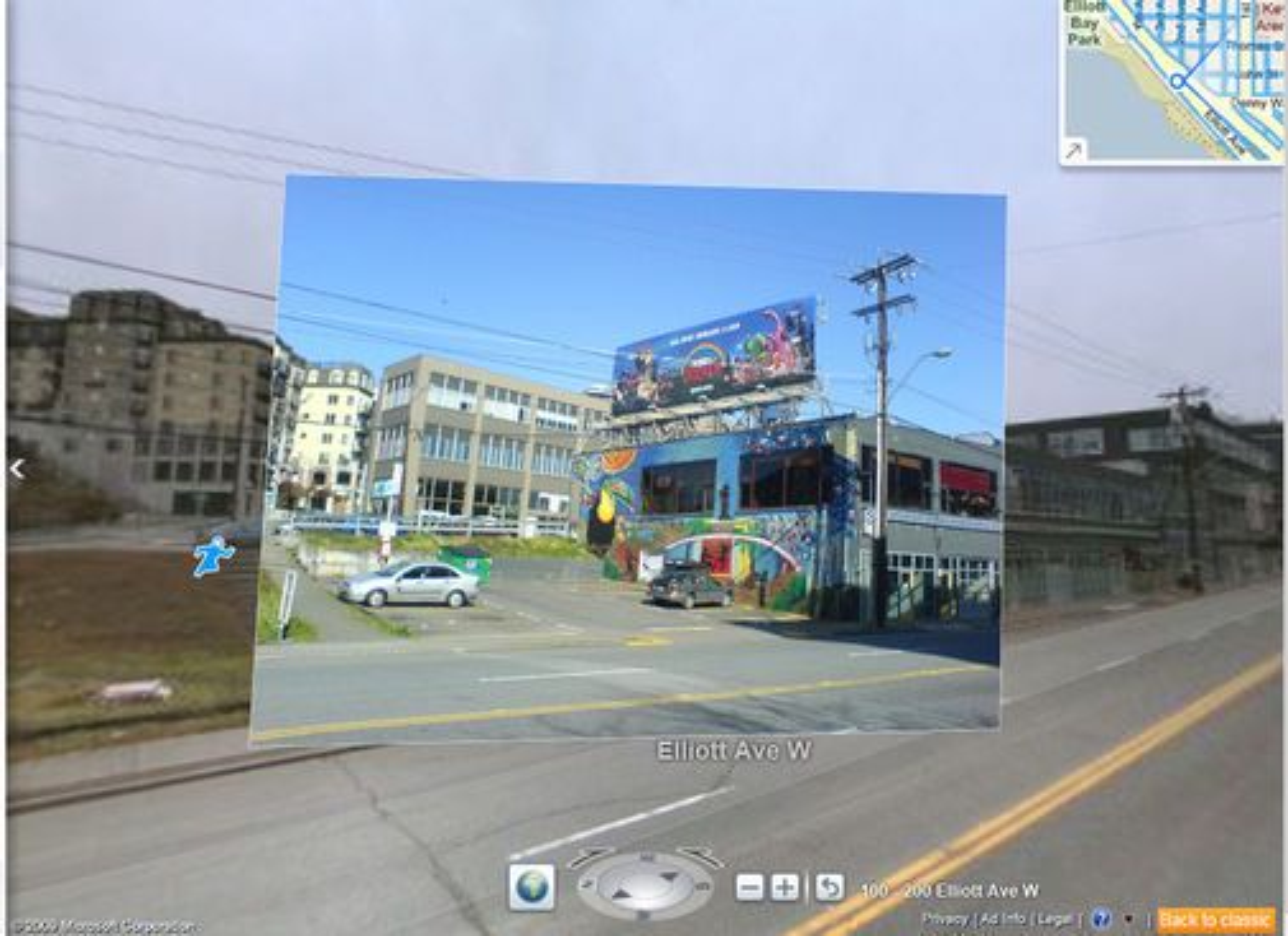Bing Maps gatebilde fra Seattle med Streetside Photos