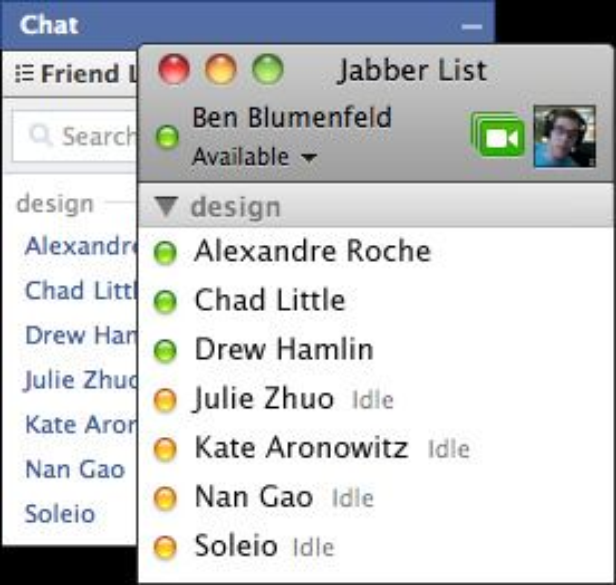 Facebook Chat i Jabber