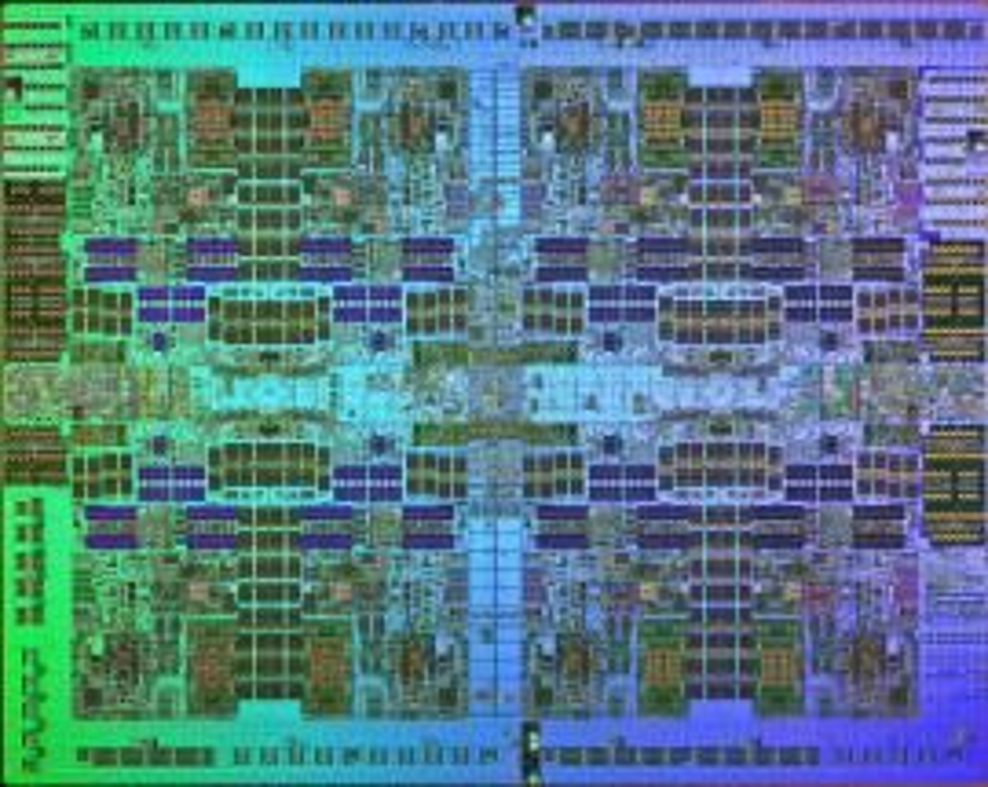 Power7-prosessoren omfatter opptil åtte kjerner. Hver kjerne kan kjøre fire samtidige tråder.
