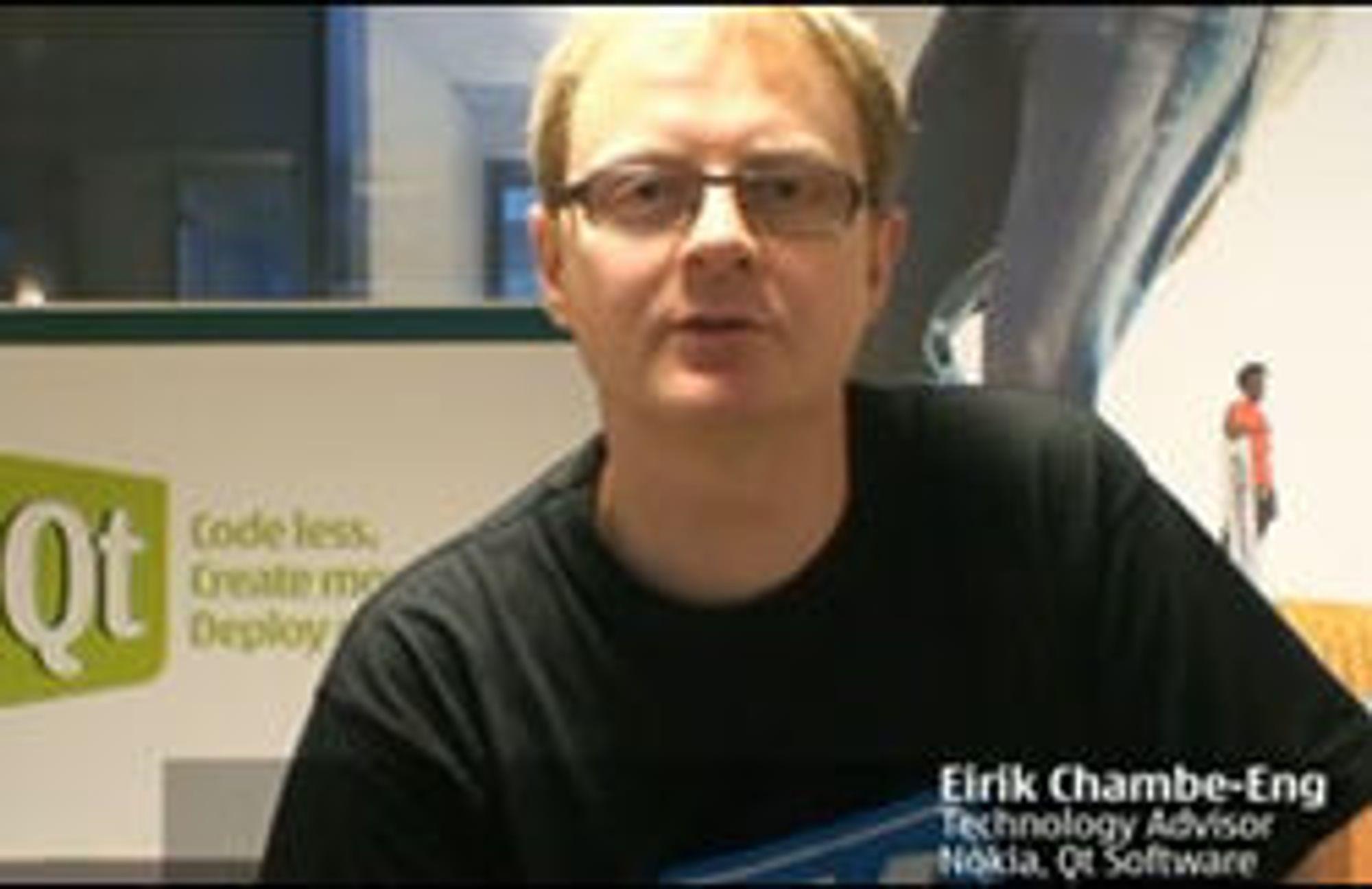 Nokia-eierskapet gjør det mulig å gi ut Qt-rammeverket med enda friere lisens, forteller Trolltech-gründer Eirik Chambe-Eng