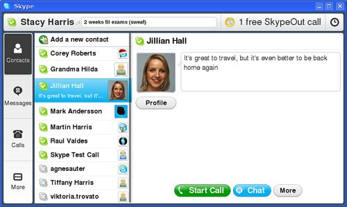 Skype 1.0 beta for MIDs