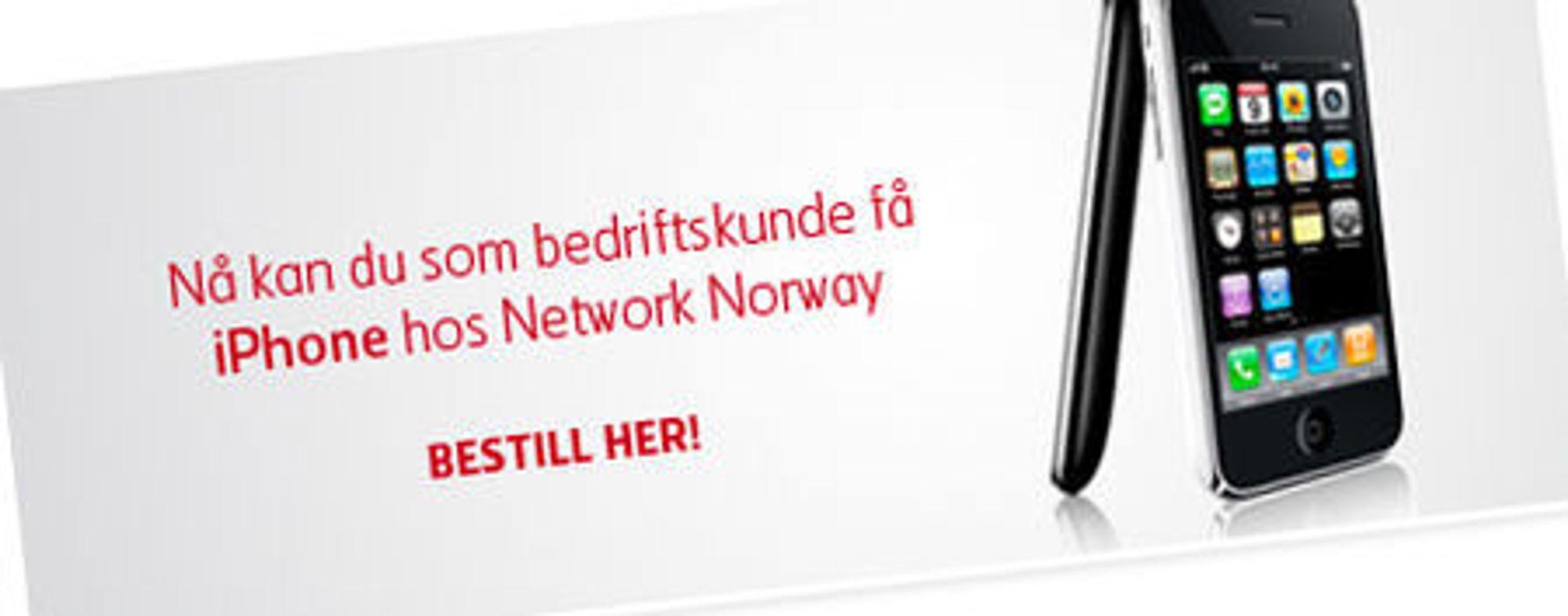 Network Norway reklamerer når for salg av iPhone på egne nettsider.