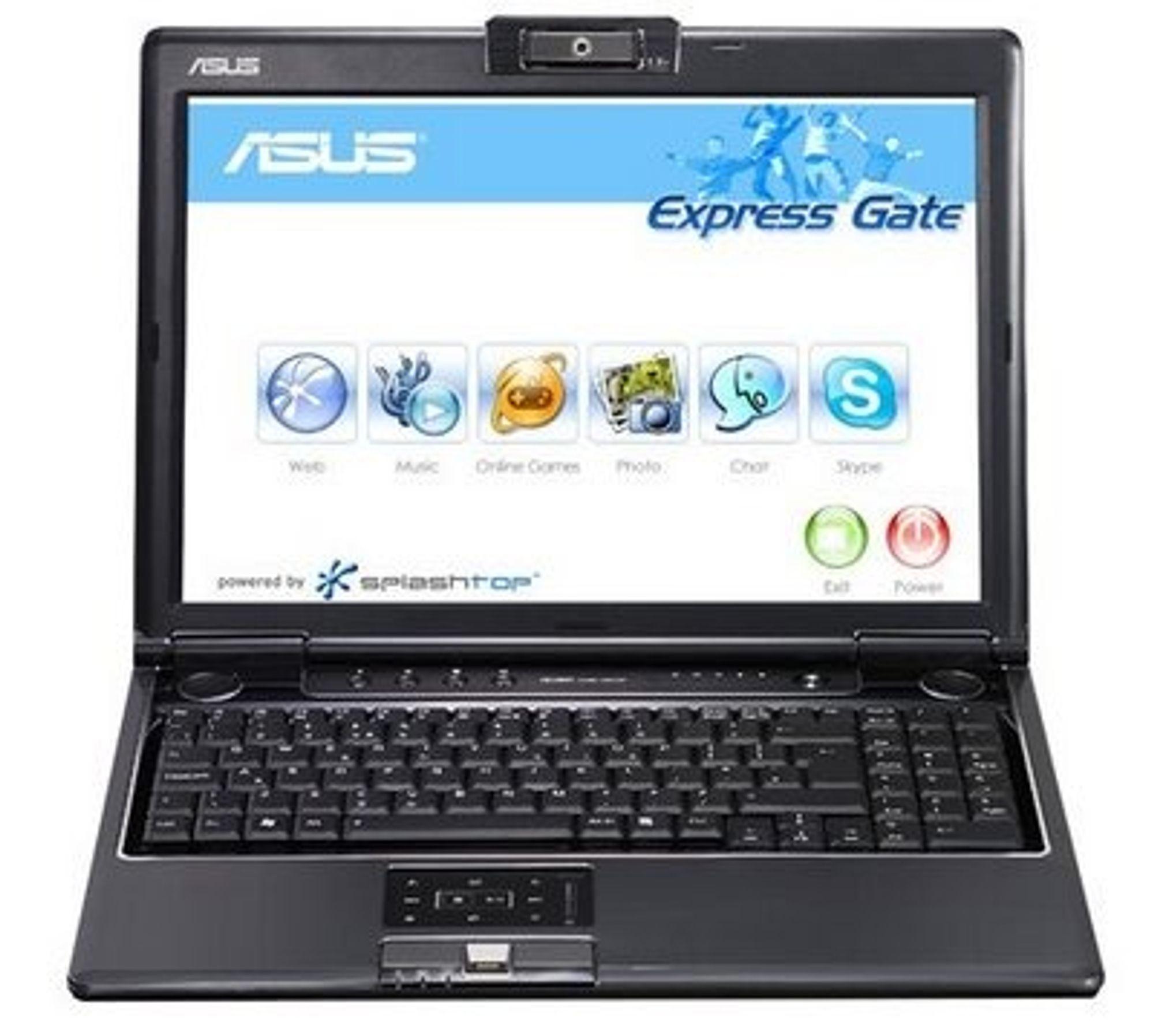 Asus-PC med Splashtop-baserte Express Gate.