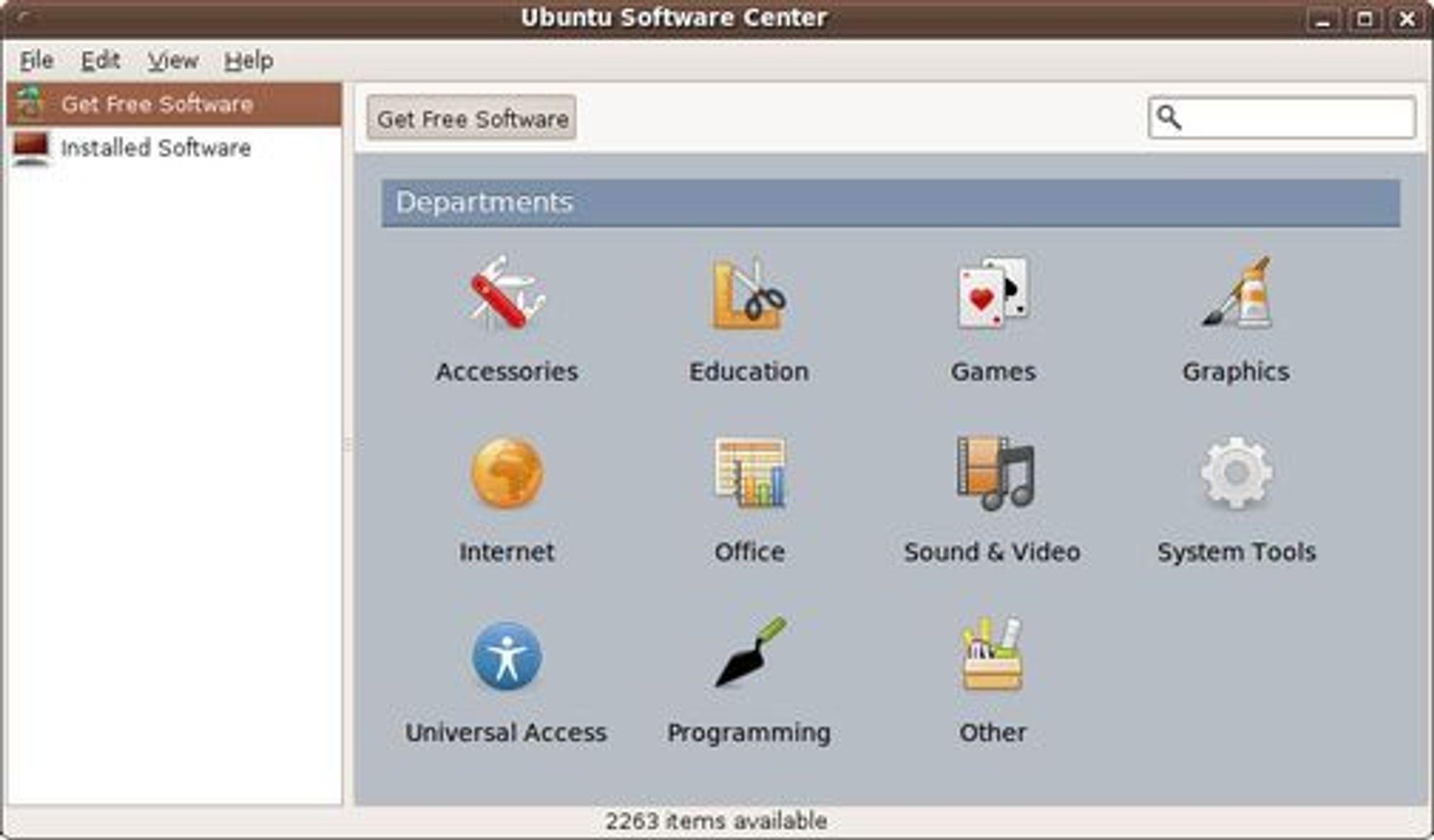 Ubuntu Software Center skal gi brukerne bedre oversikt over den store mengden av tilgjengelig programvare til Ubuntu 9.10.