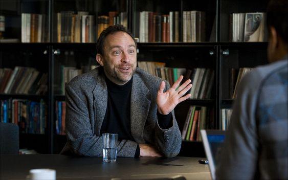 Wikipedia-gründer Jimmy Wales er en ivrig tilhenger av fritt innhold og fri programvare.