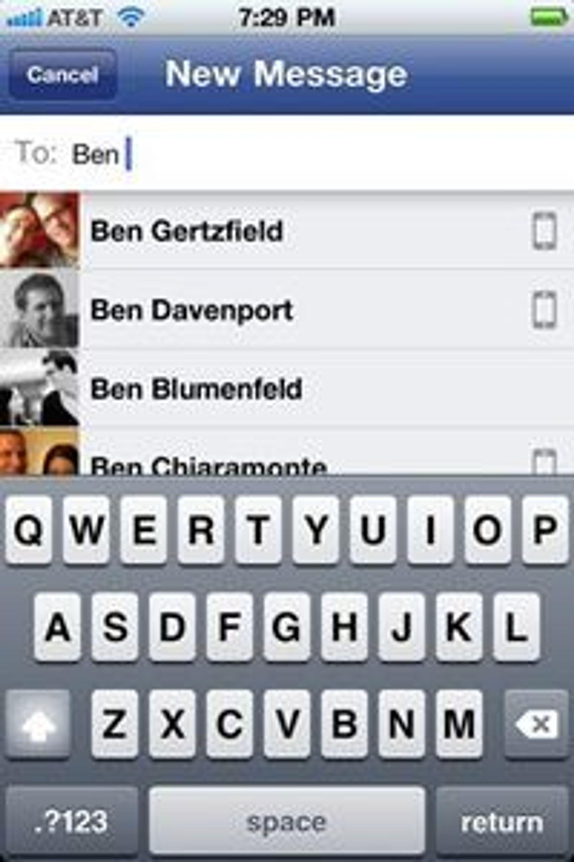 Facebooks nye applikasjon skal gjøre det lettere å nå venner - og kan true SMS.