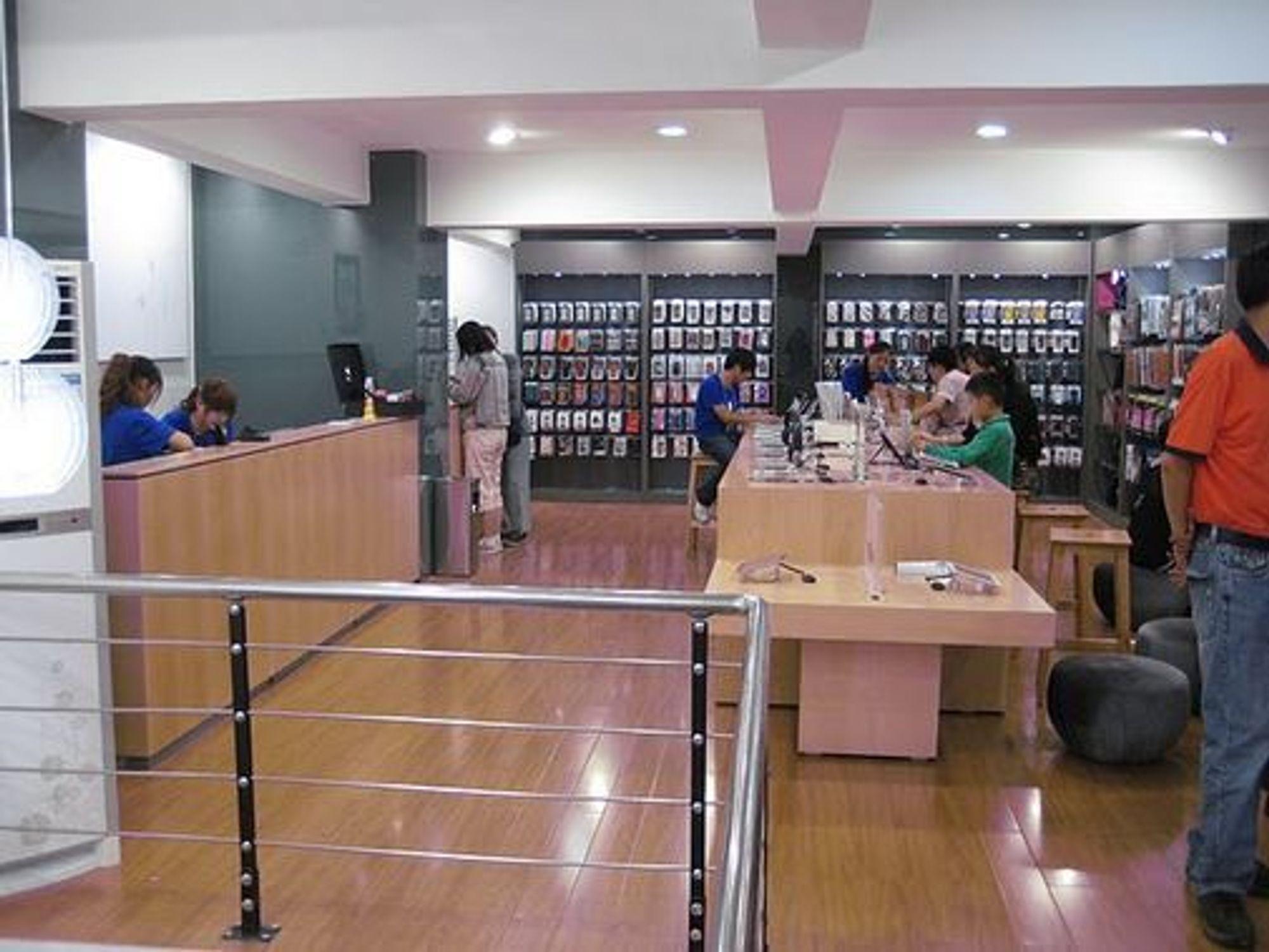 Fra Apple Store-kopien i Kunming. (Bilde gjengitt med tillatelse)
