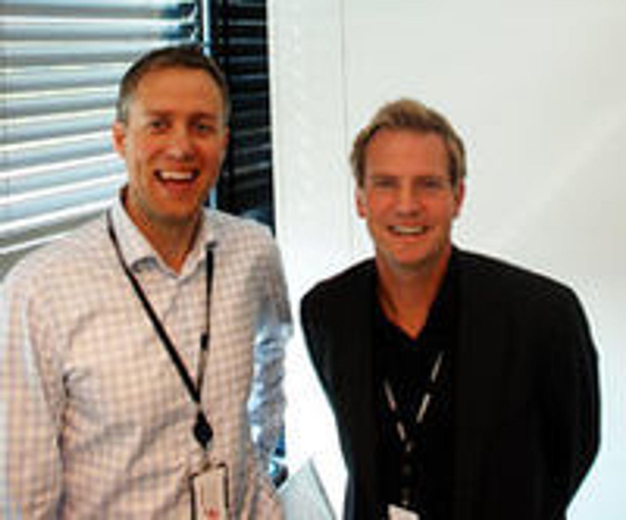CTO Jørgen Solberg og administrerende direktør Halvor Walla tror kundene vil gripe mulighetene som nettskysatsingen åpner for.