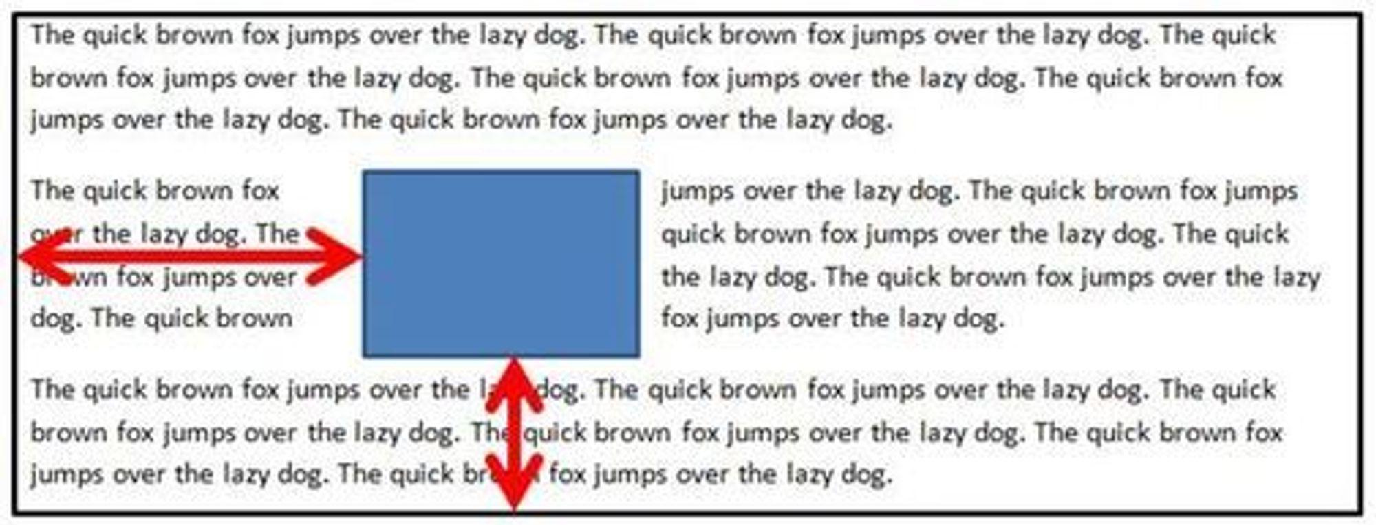 Med Positioned Floats kan HTML-elementer plasseres i en tekst, mens teksten flyter rundt på alle kanter.