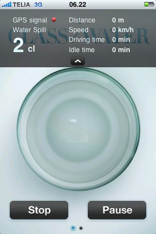Toyotas «A Glass of Water»-applikasjon for iPhone.