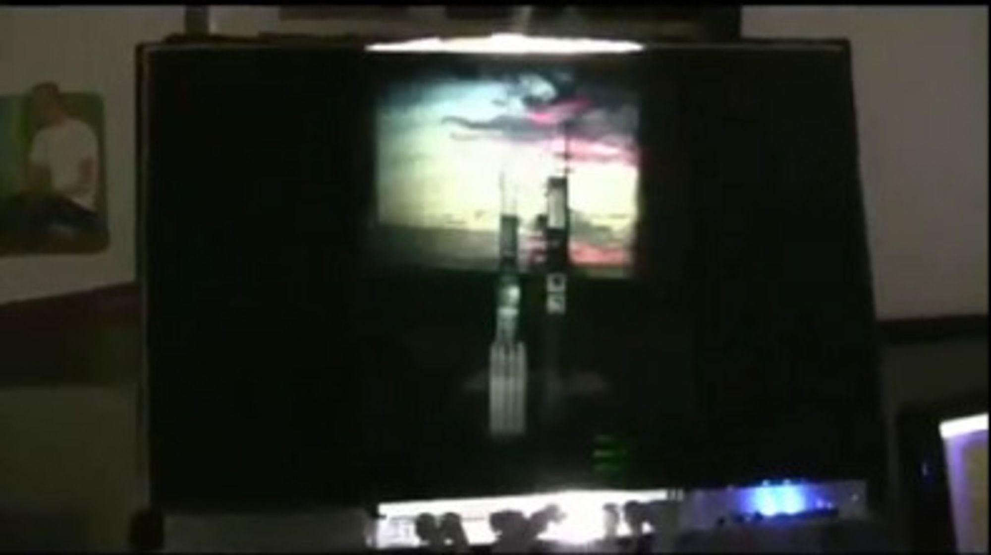 Demonstrasjonsvideoen avslører at bildet langt fra fyller hele skjermens bredde.