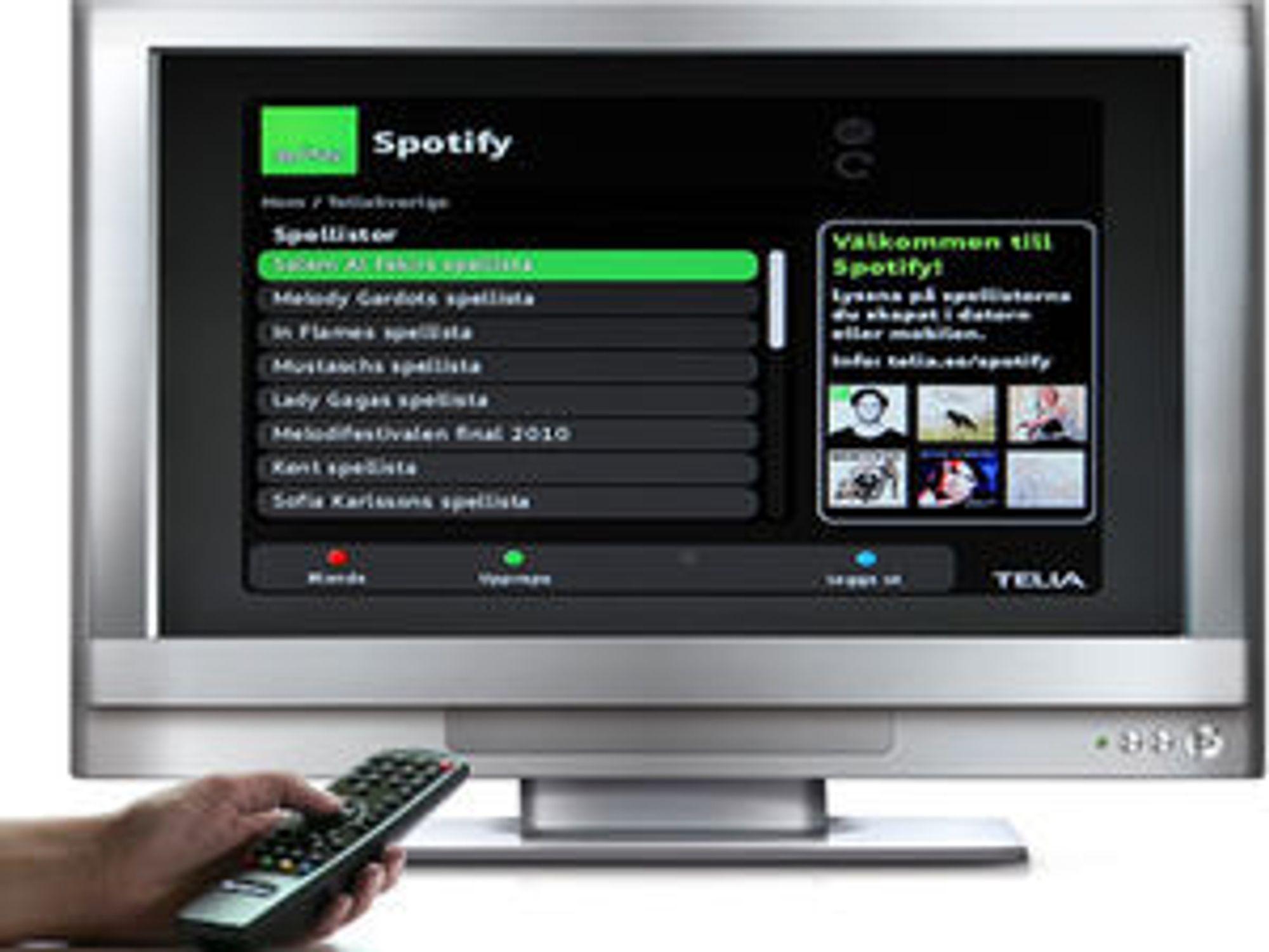 Spotify på digital-tv