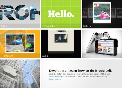 Apples HTML5 showcase