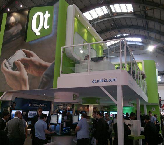 Qt lever videre som Nokias rammeverk for Symbian og Meego. Her fra selskapets stand under Mobile World Congress i Barcelona.
