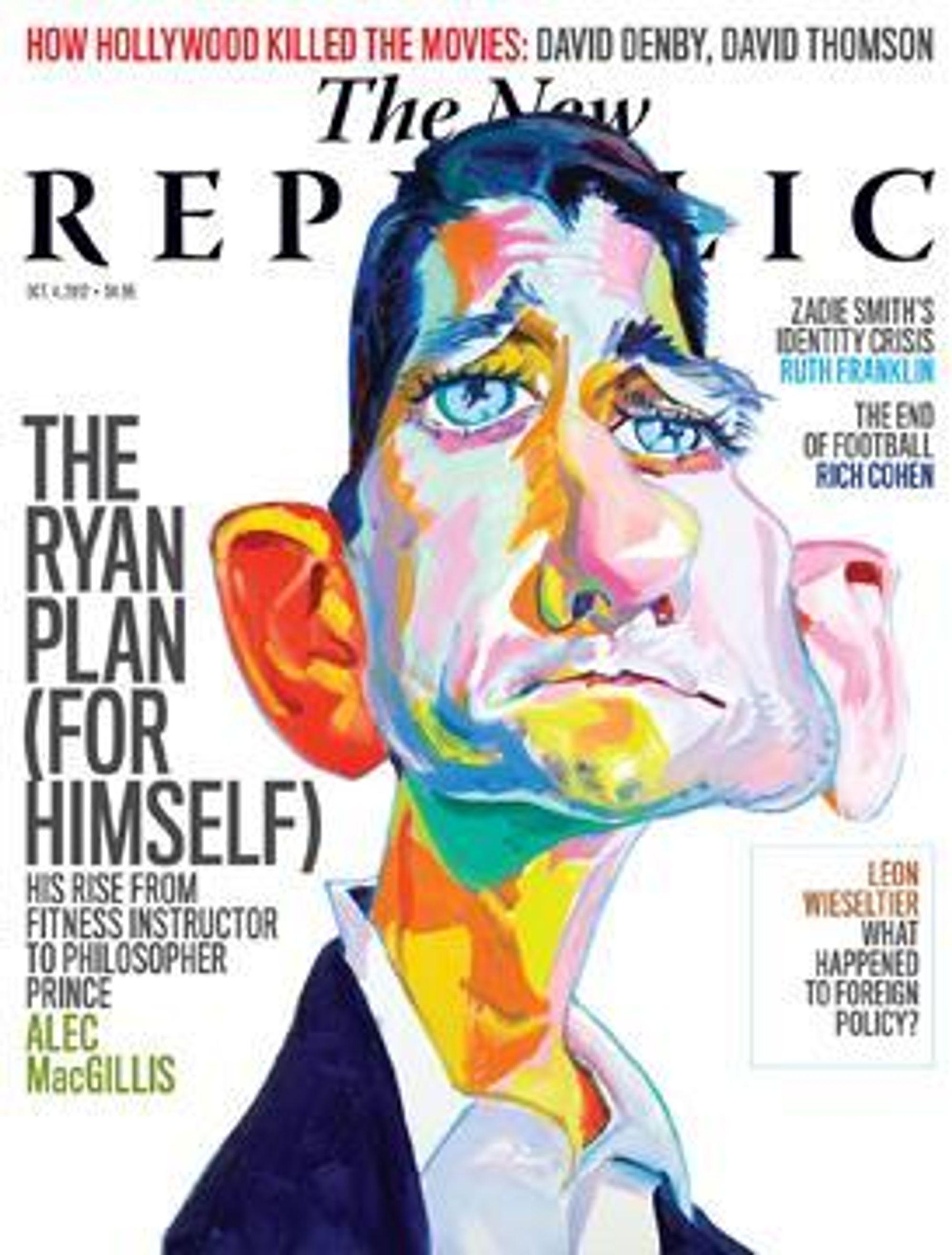 The New Republic, september 2012, med den nevnte lange artikkelen og Paul Ryan.