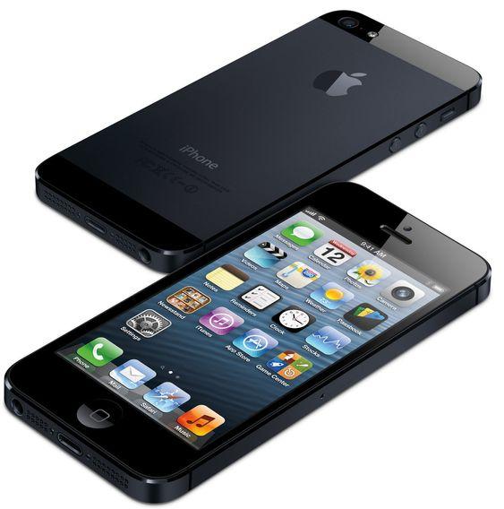 Den svarte utgaven av iPhone 5.