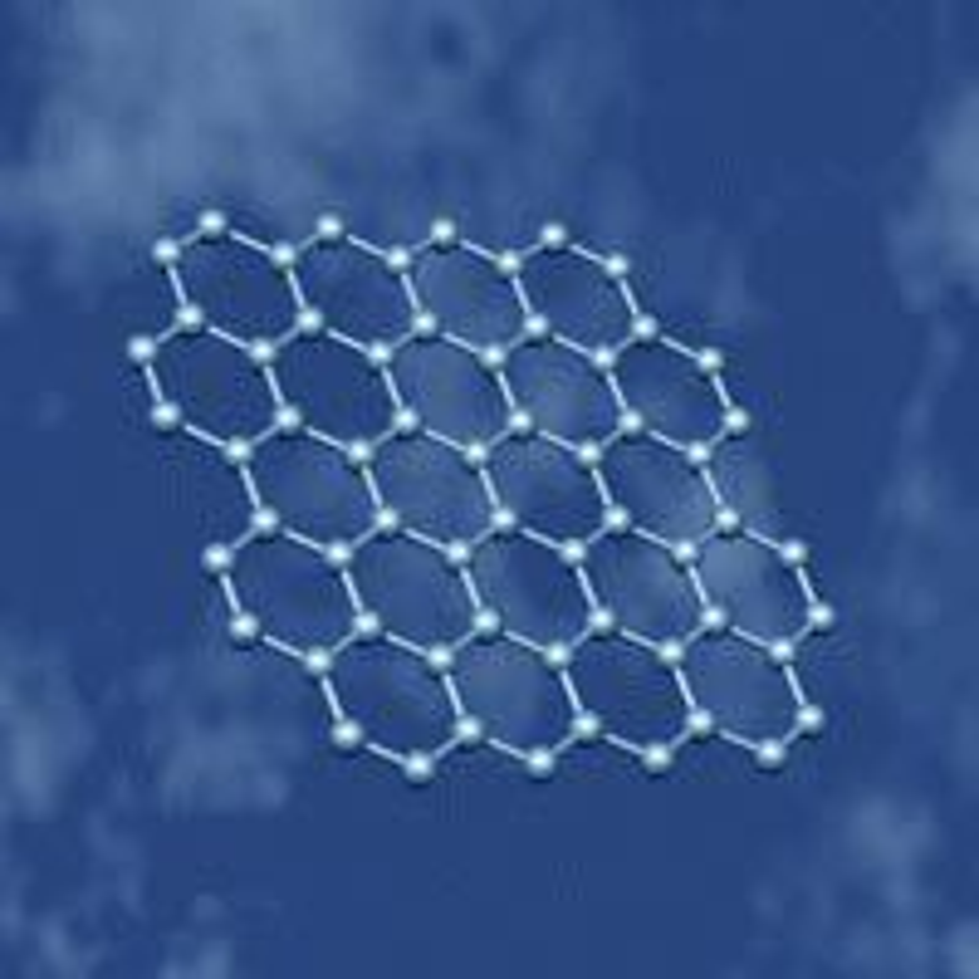 Grafen-molekylene danner et flatt, bikubelignende mønster.