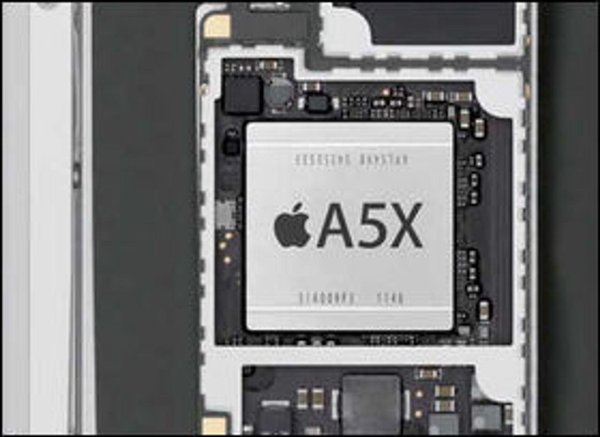 Den Apple-designede brikken A5X er produsert av Samsung, og vil fortsatt være det selv om Apple skal ha kuttet i andre leveranser fra det koreanske selskapet.