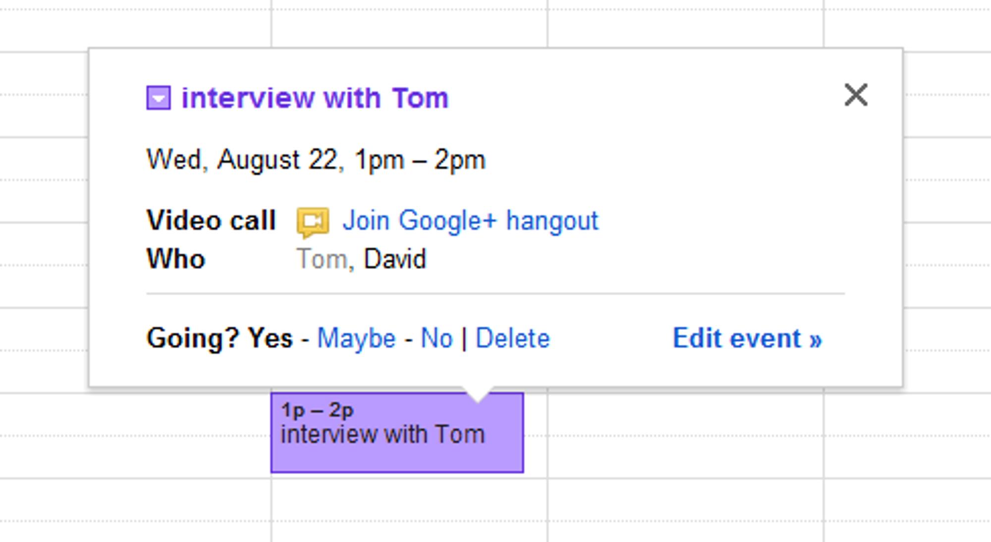 Videokonferanser av typen Hangout kan nå legges til som en egen type begivenhet i Googles kalendertjeneste.