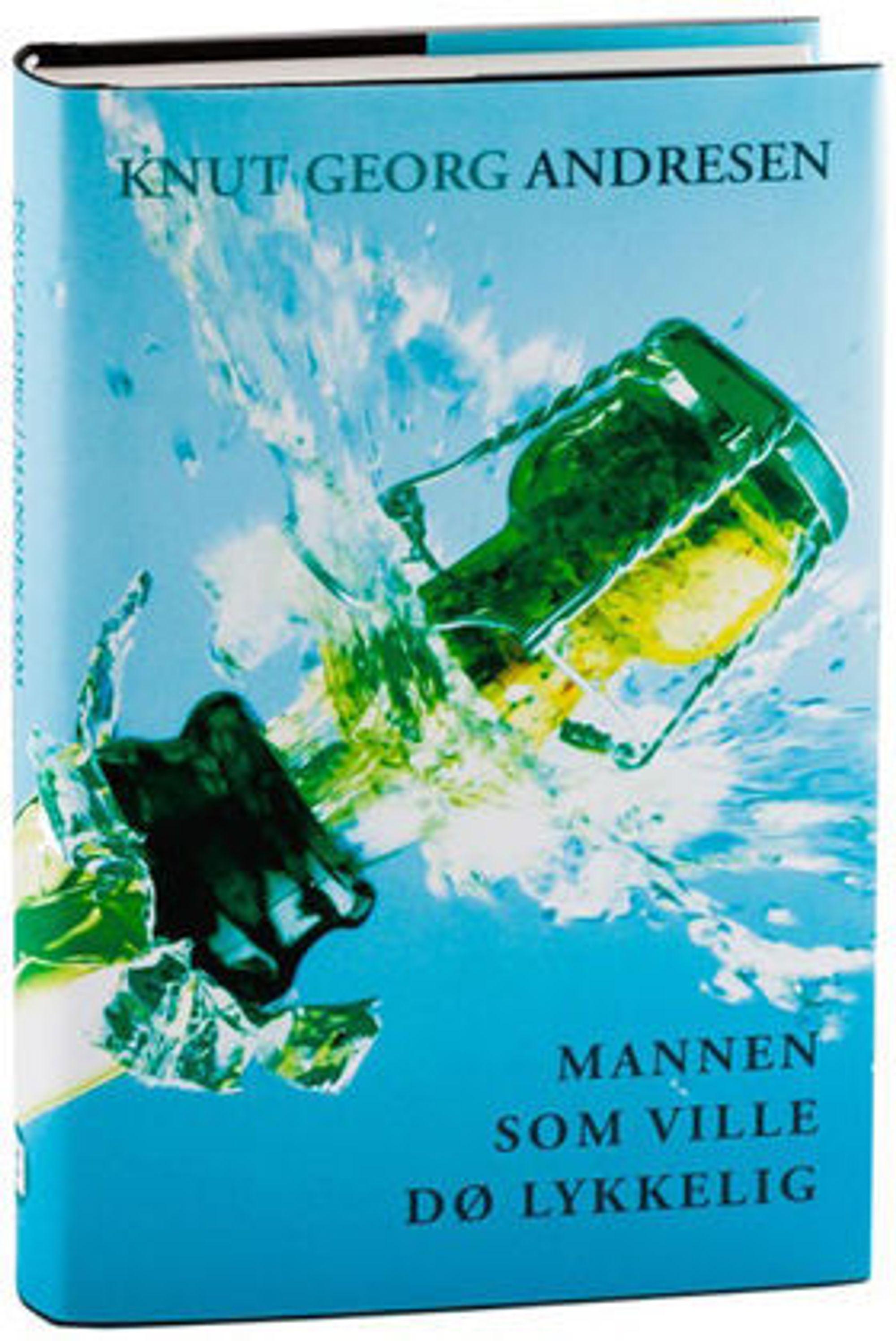 """Fair-gründer Knut Georg Andresen, håper på godt salg av forlaget, og hans, første utgivelse: Romanen """"Mannen som ville dø lykkelig."""""""