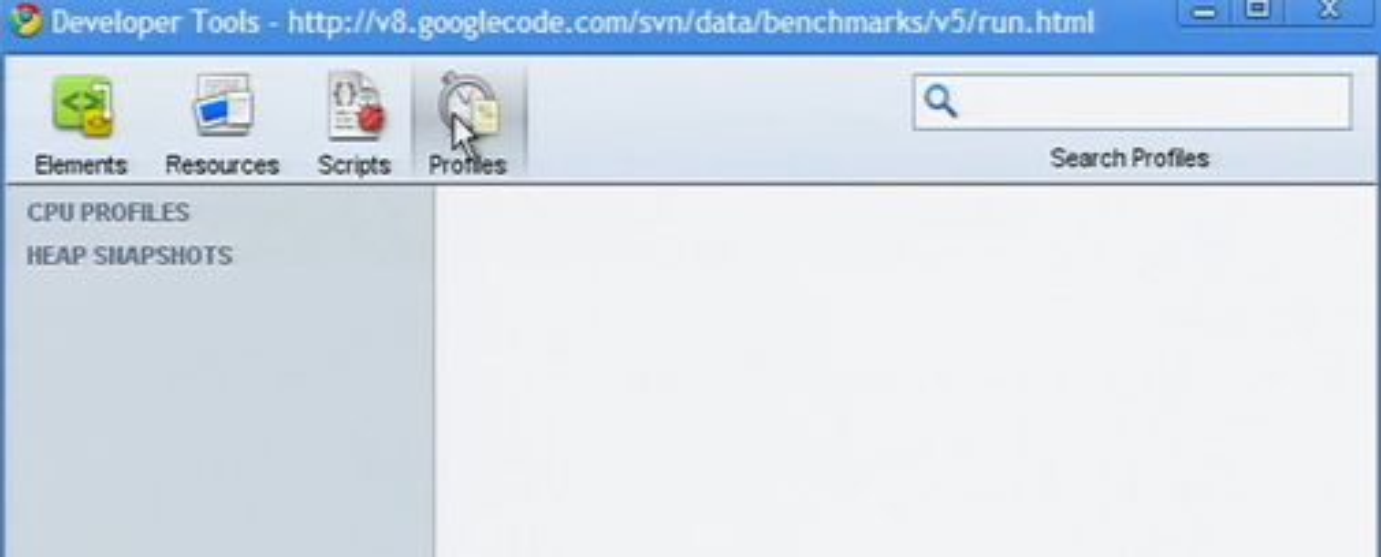 Utsnitt av utviklerverktøyene i Google Chrome.