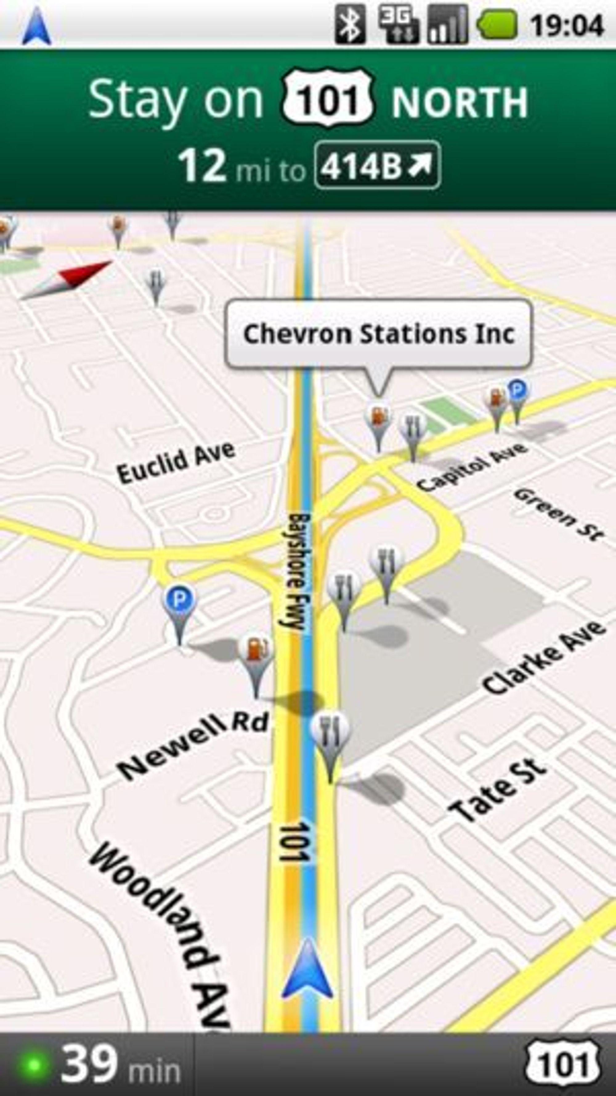 Google Maps Navigation kan vise ulike informasjonslag over kartene.