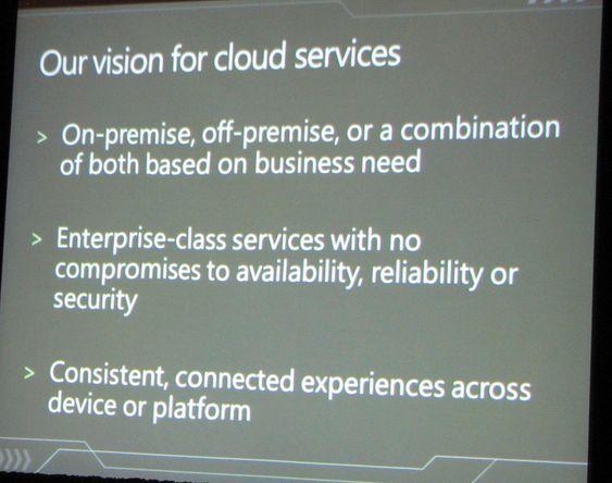 Microsofts visjon for nettsky-tjenester.