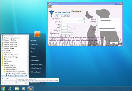 Windows XP Mode i Windows 7 gjør det mulig å installere applikasjoner i en virtuell utgave av Windows XP og deretter kjøre dem som tilsynelatende ordinære Windows 7-applikasjoner.