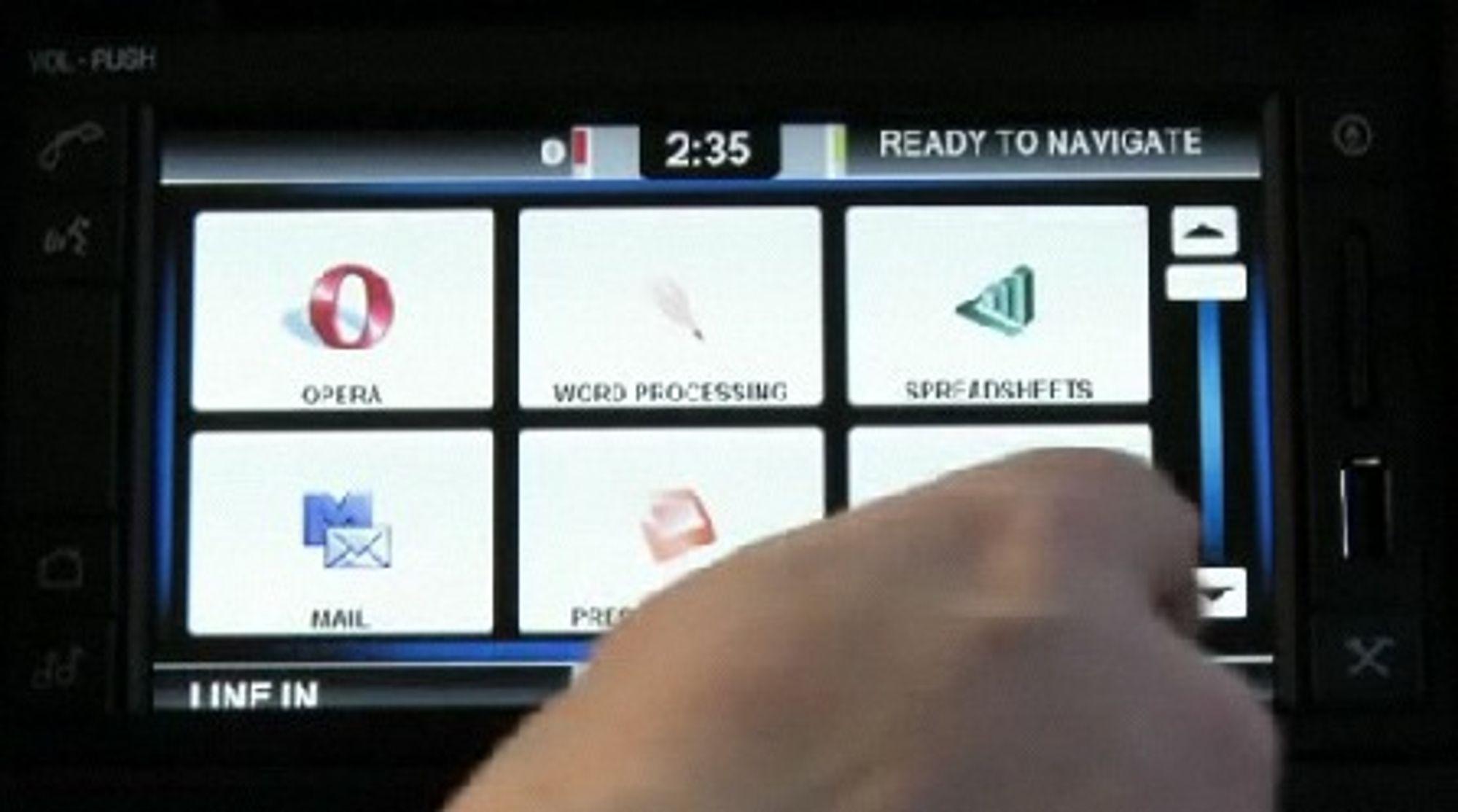 Operas nettleser tilbys som en del av Ford Work Solutions' In-Dash Computer.