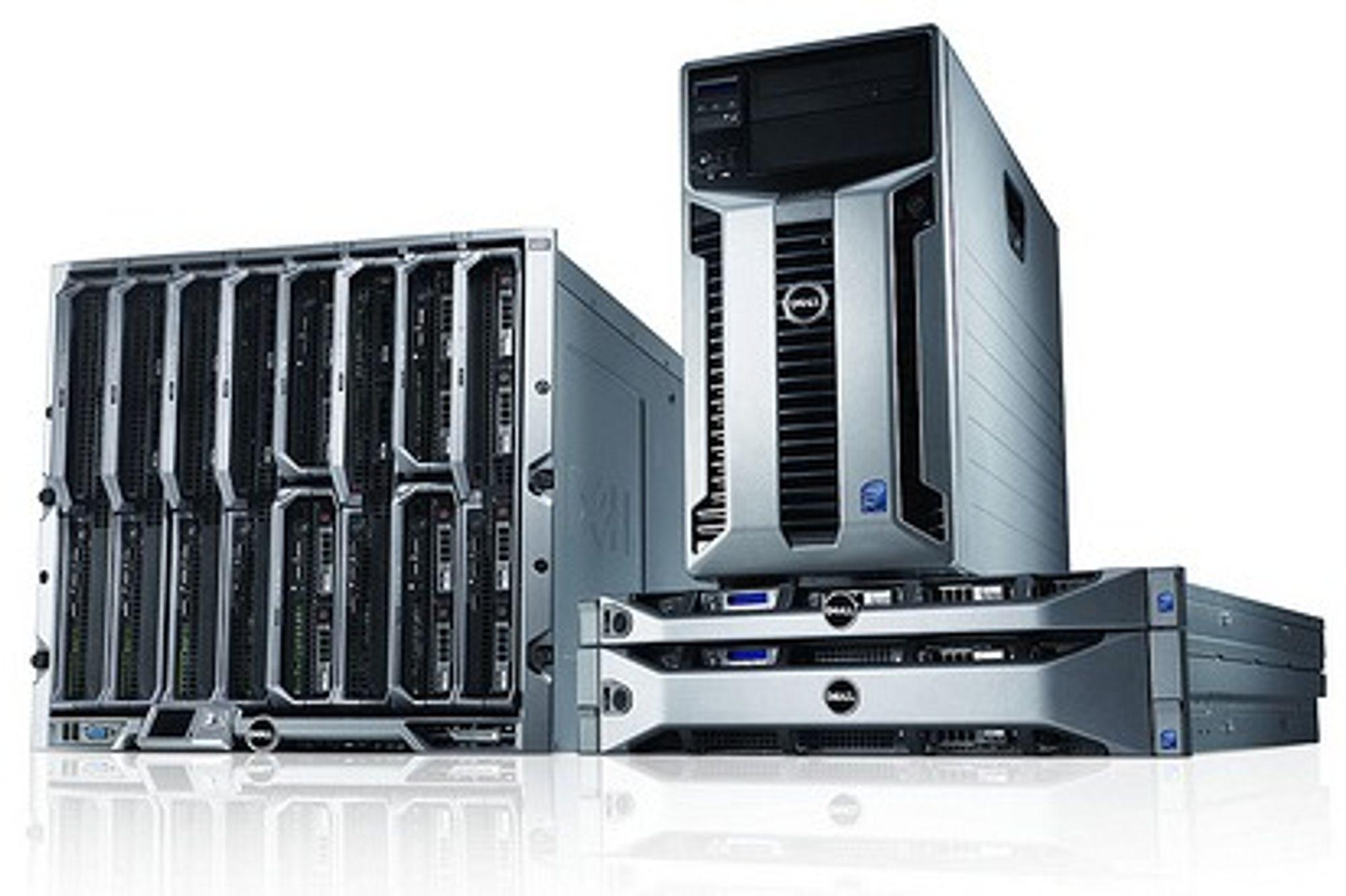 Dell har et bredt utvalg PowerEdge-servere med Xeon 5500.