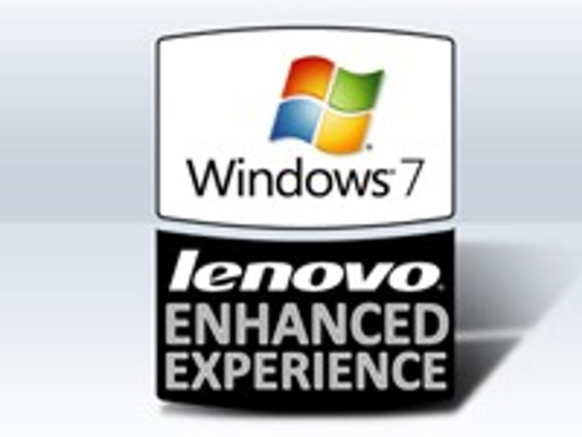 Denne logoen skal vise at pc-en er optimalisert for å kjøre Windows 7 raskere enn andre ellers identisk konfigurerte maskiner.