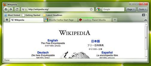 Designforslag for Firefox 3.7.