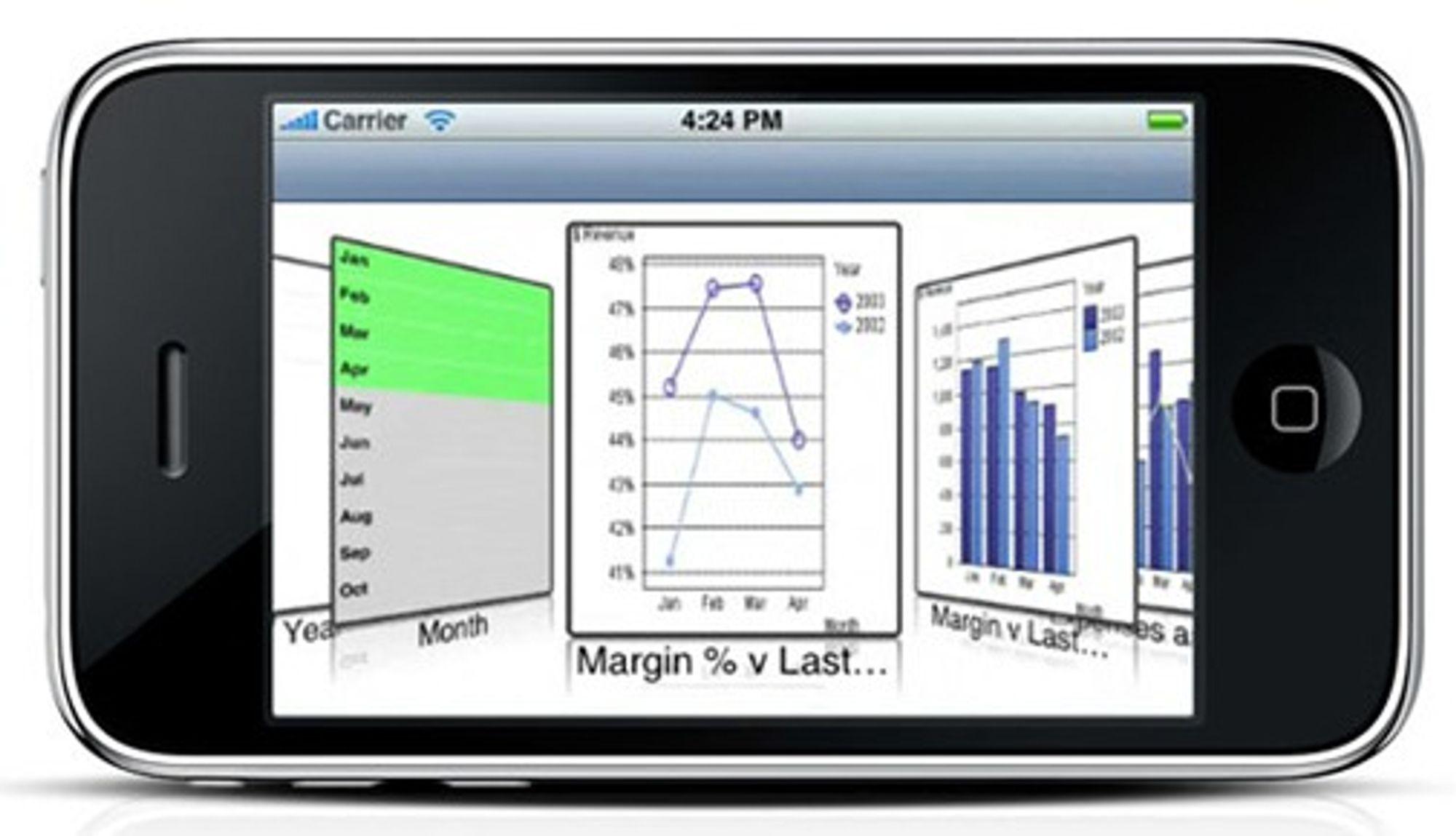 Med QlikView er også iPhone er et hjelpemiddel til analyse og beslutninger.