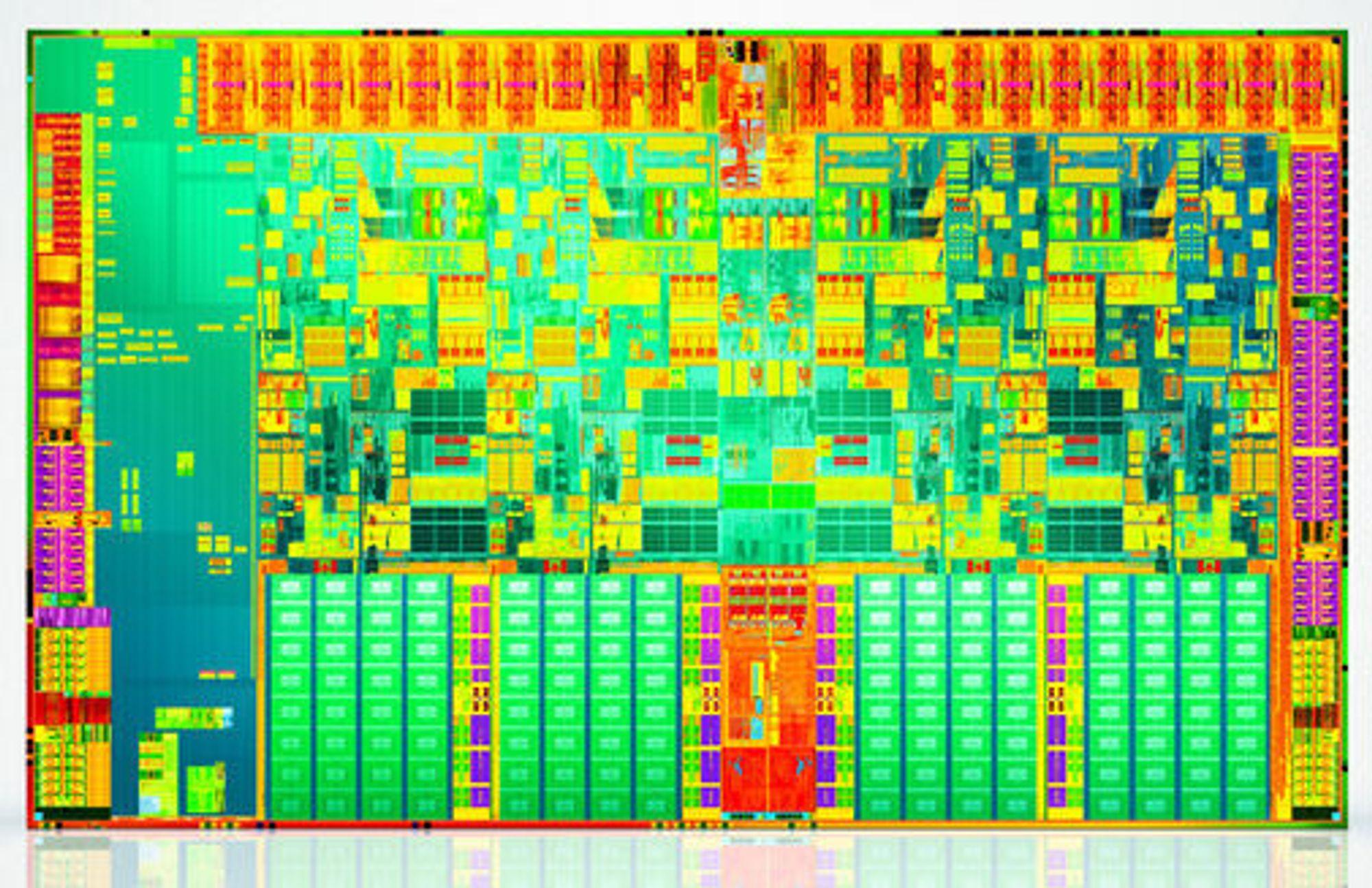 Innmaten i Jasper Forest-baserte Xeon-prosessor