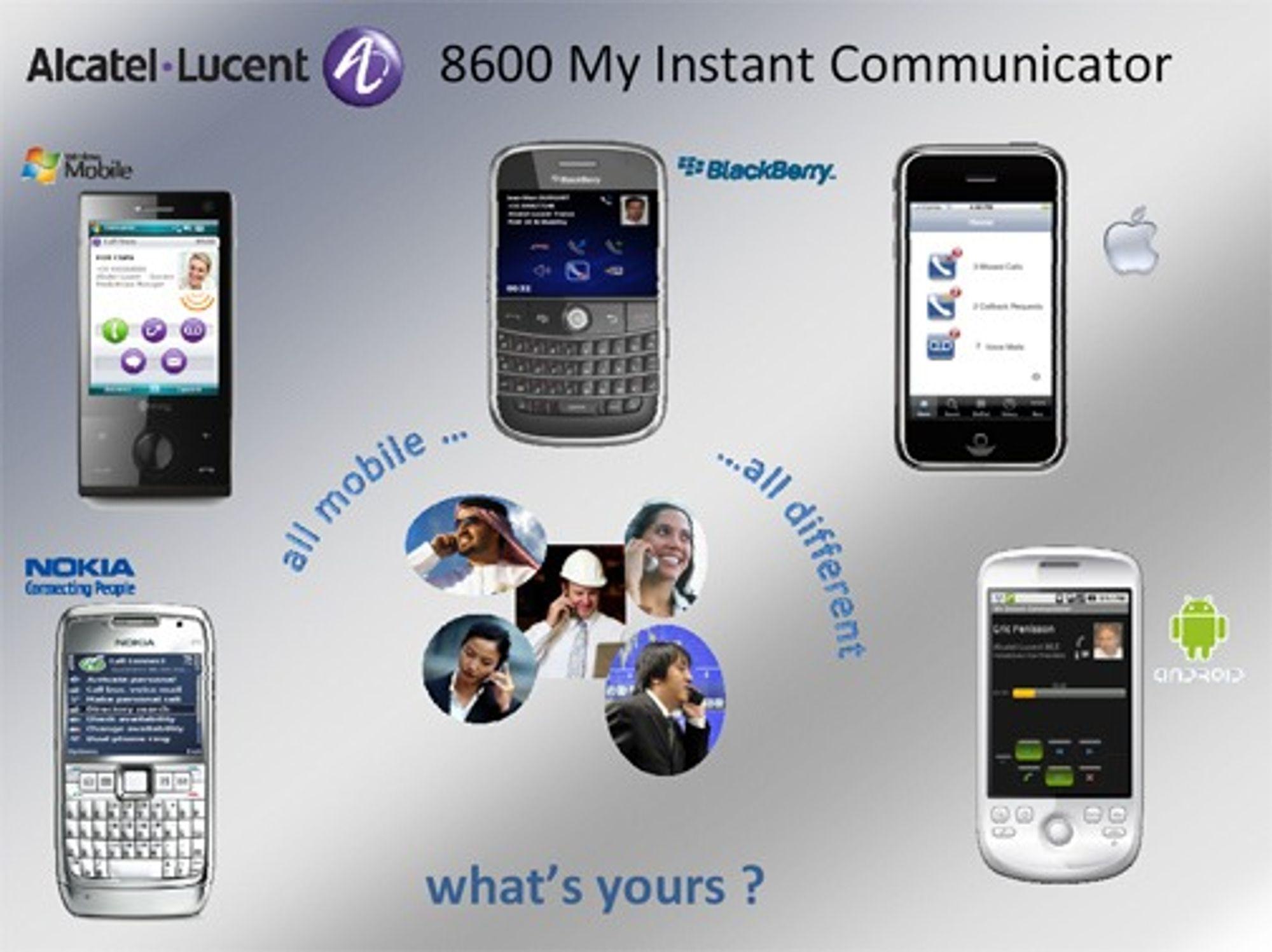 Mobilene Alcatel-Lucent vil støtte med OmniTouch 8600 MIC.