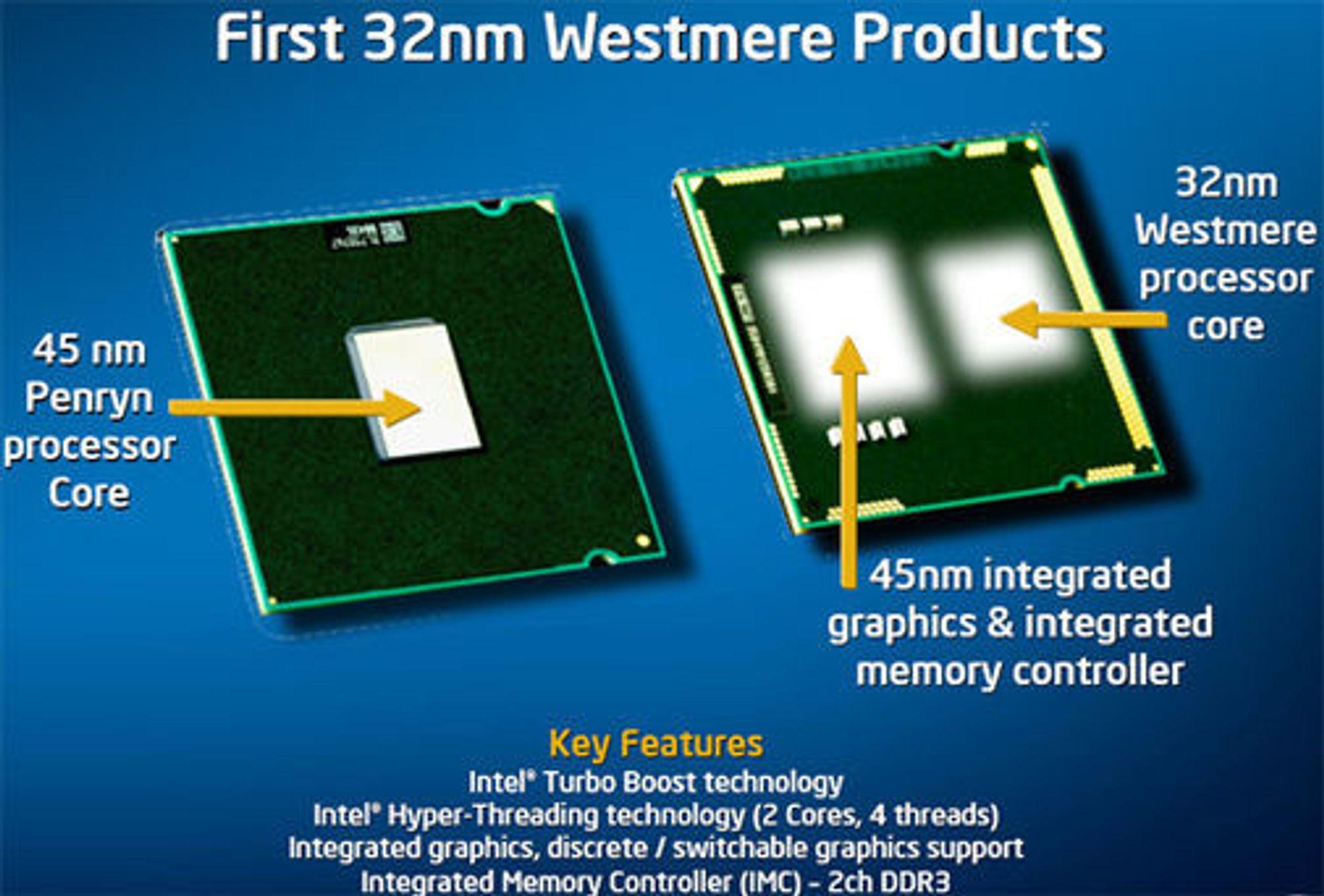 Intels første brikke med både CPU og GPU.