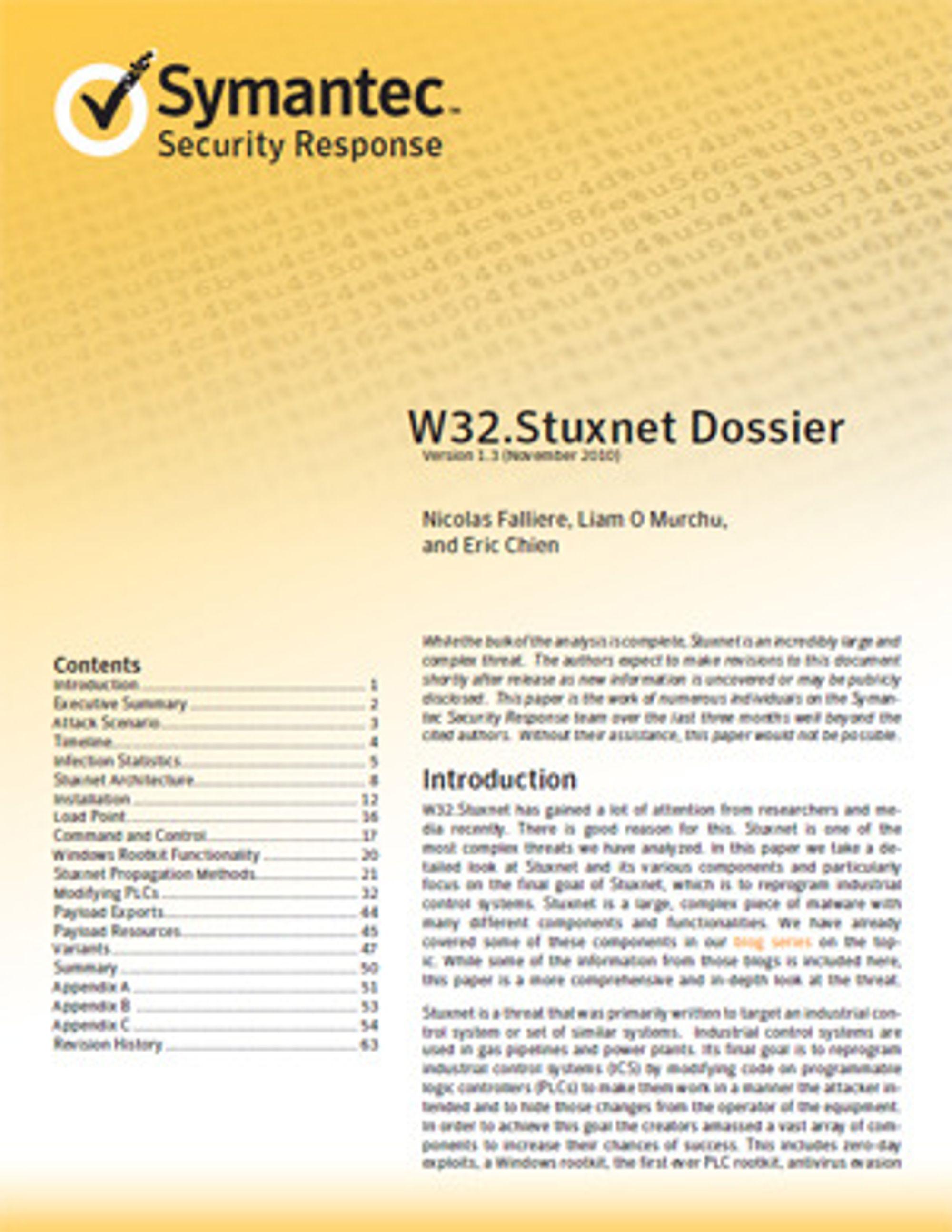 Stuxnet-rapporten til Symantec oppdateres fortløpende, og utfylles mellom oppdateringene av innlegg på selskapets Stuxnet-blogg.