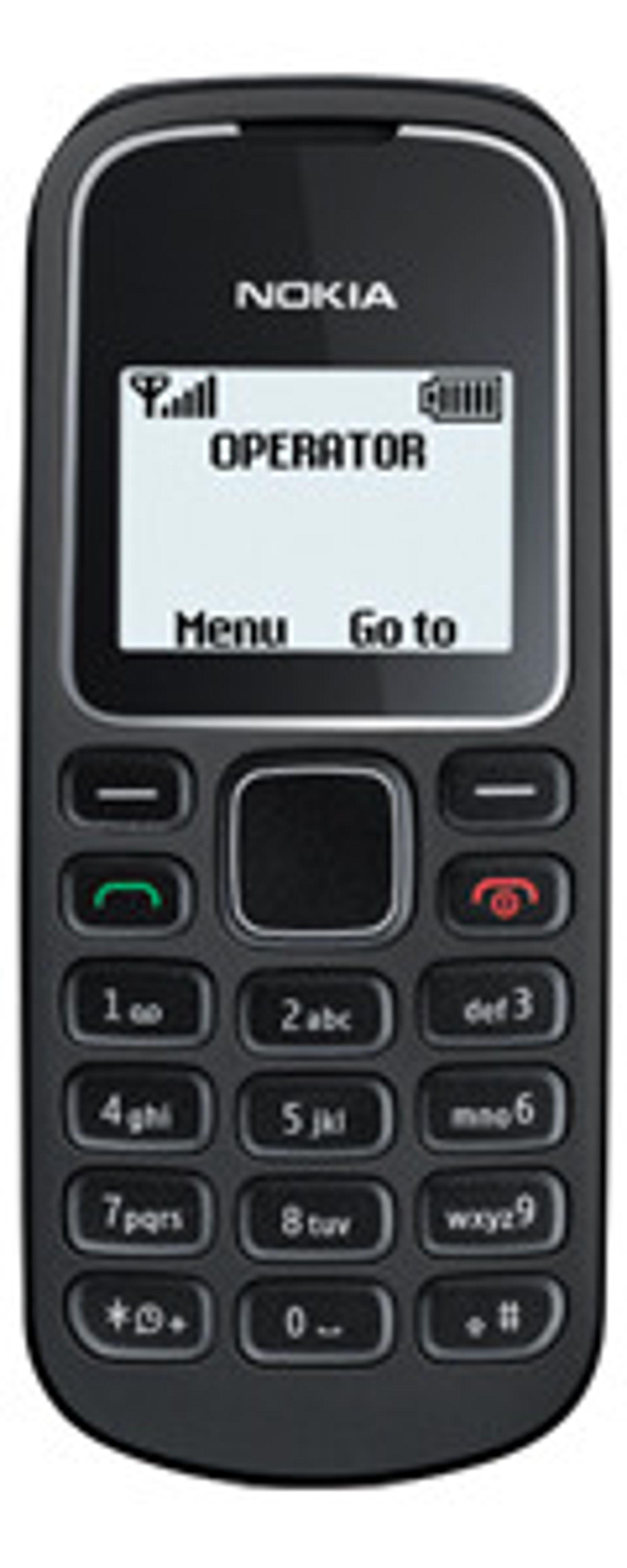 Nokia 1280 uten abonnement koster i underkant av 1200 rupi, dvs rundt 150 kroner.