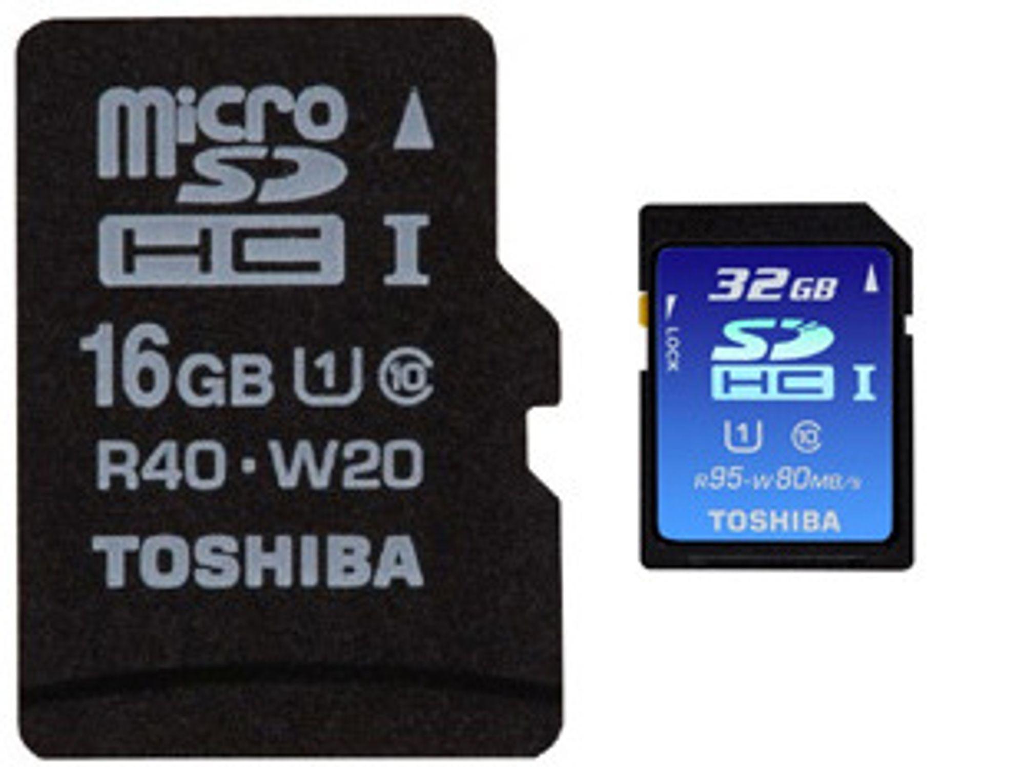 Nye SDHC UHS-I-kort fra Toshiba
