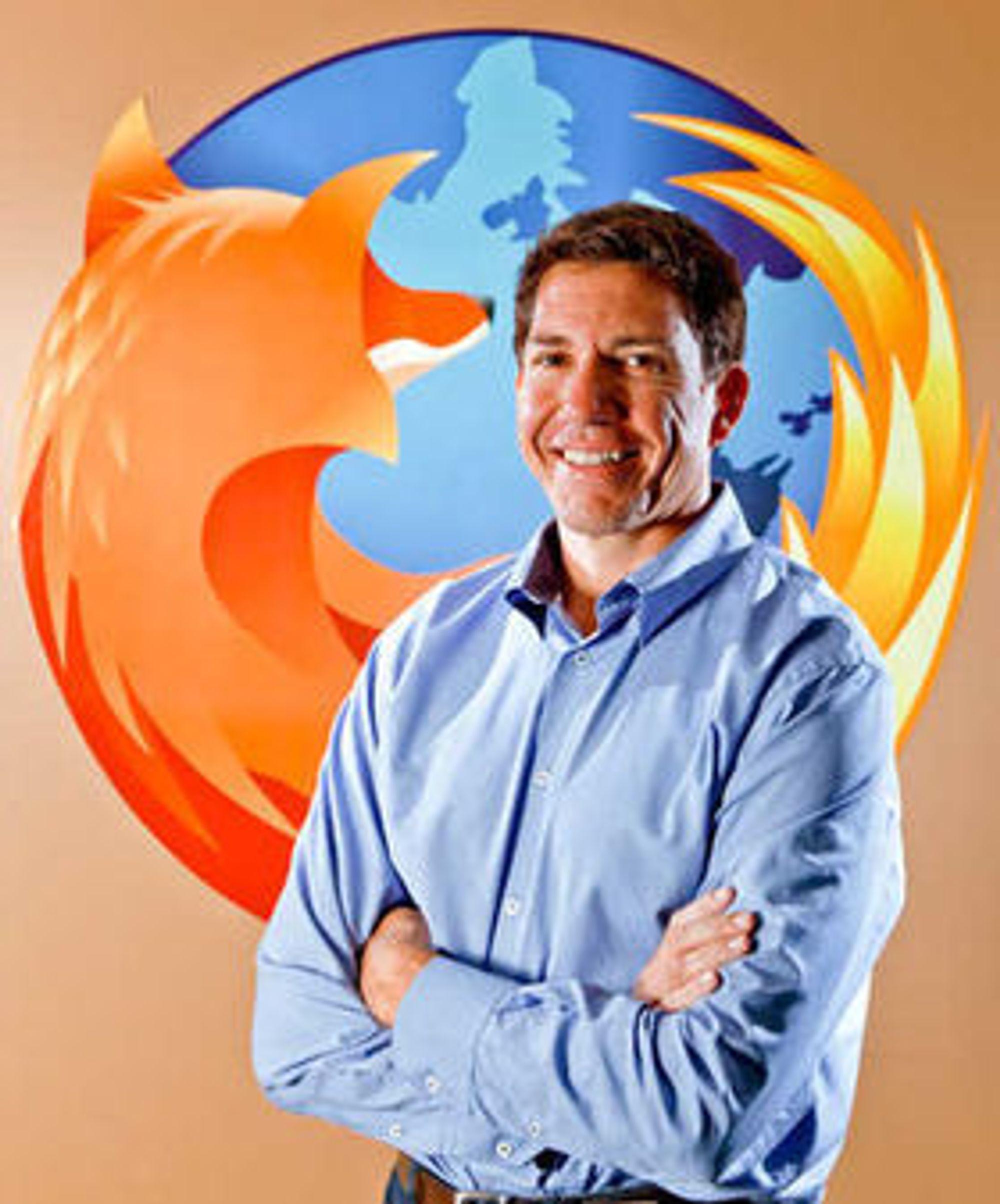 Mozilla-sjef Gary Kovacs har igjen grunn til å smile.